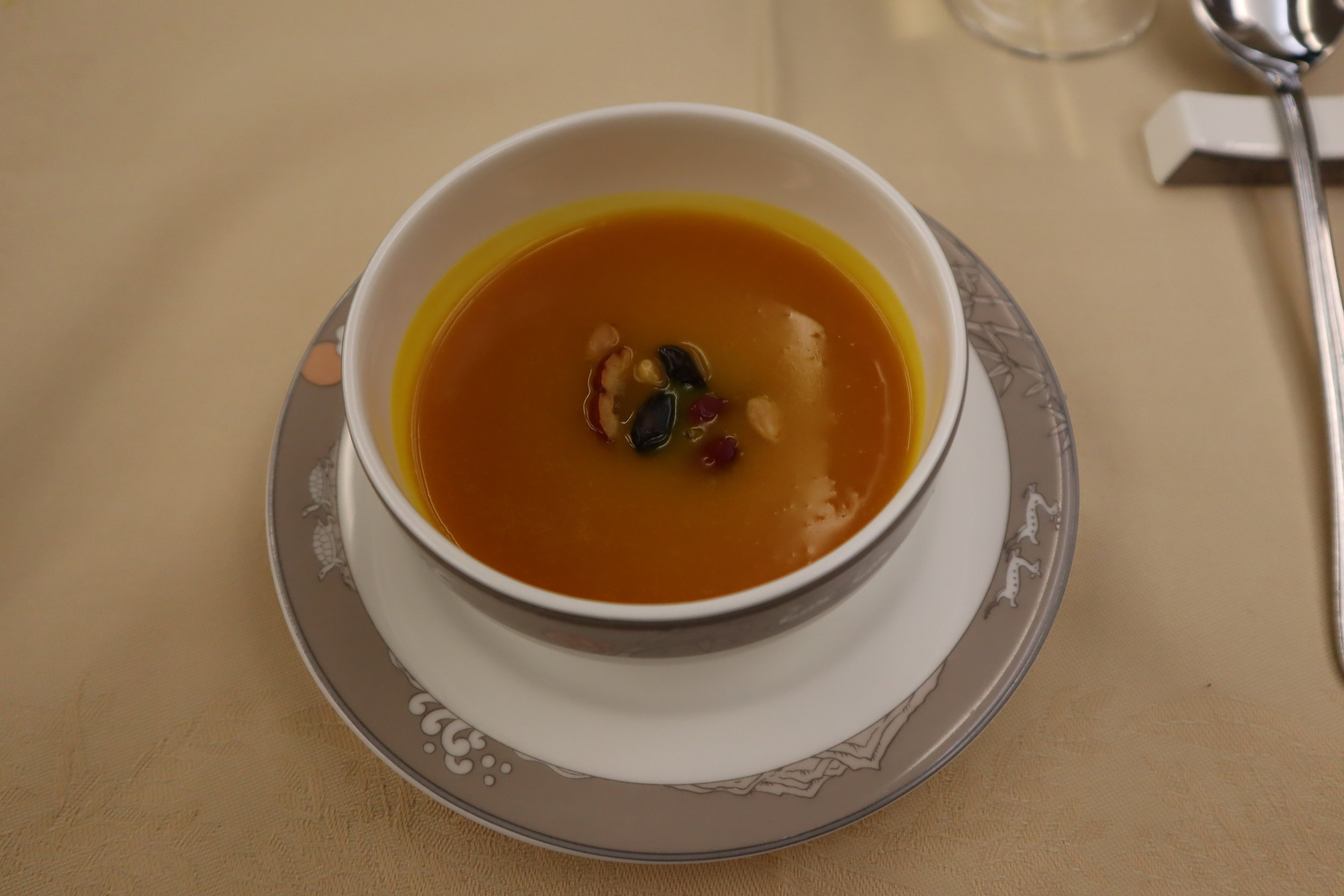 Asiana Airlines First Class – Pumpkin porridge