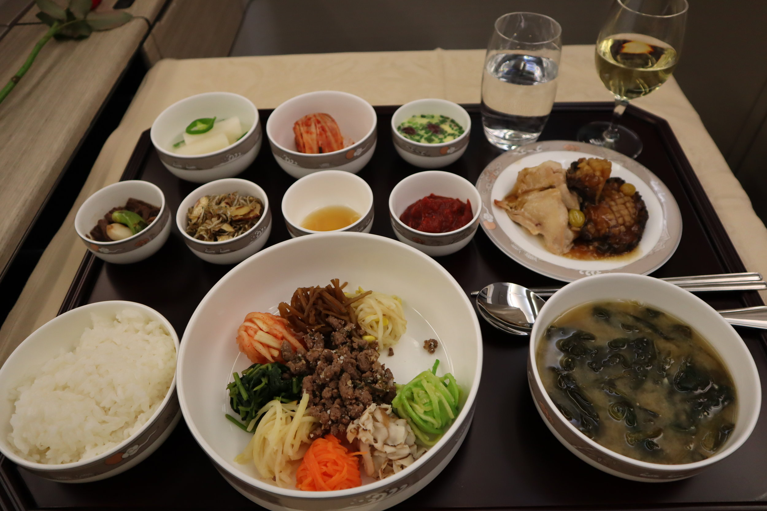 Asiana Airlines First Class – Bibimbap presentation