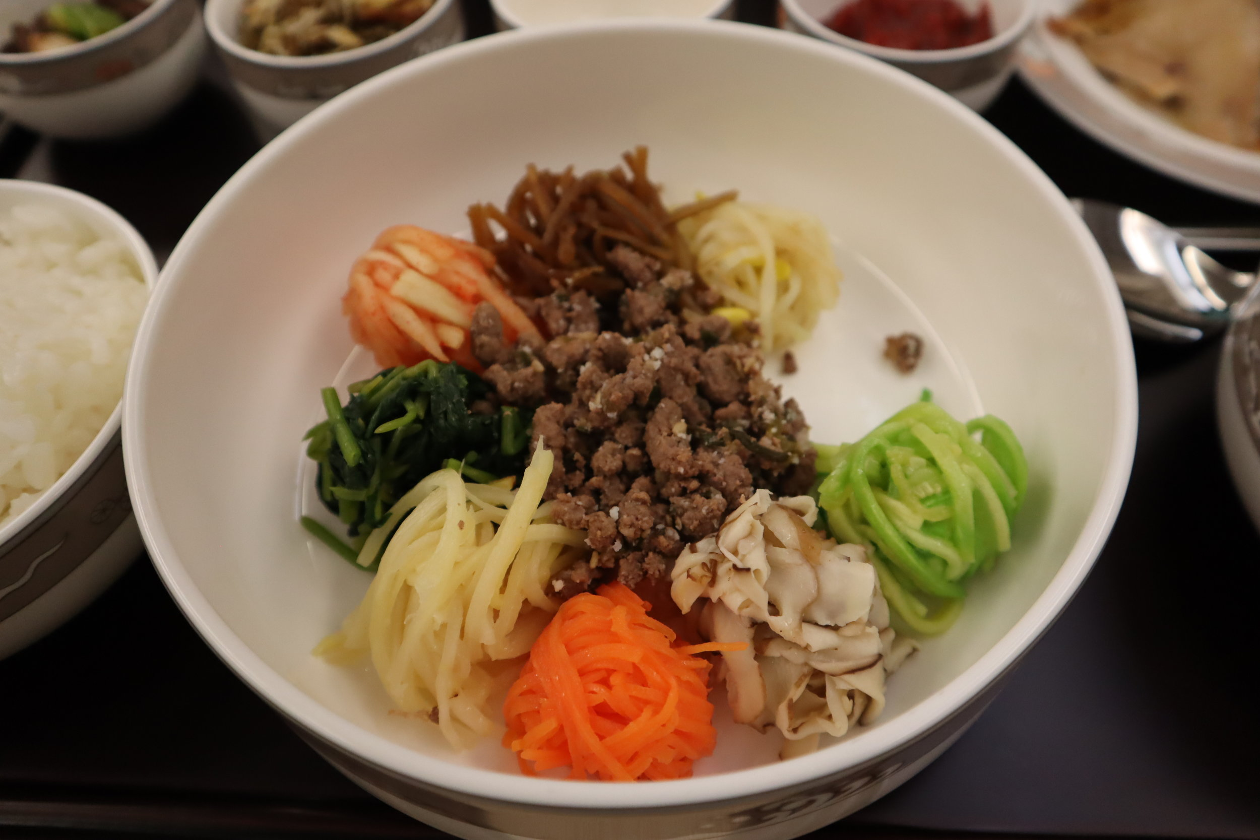 Asiana Airlines First Class – Bibimbap