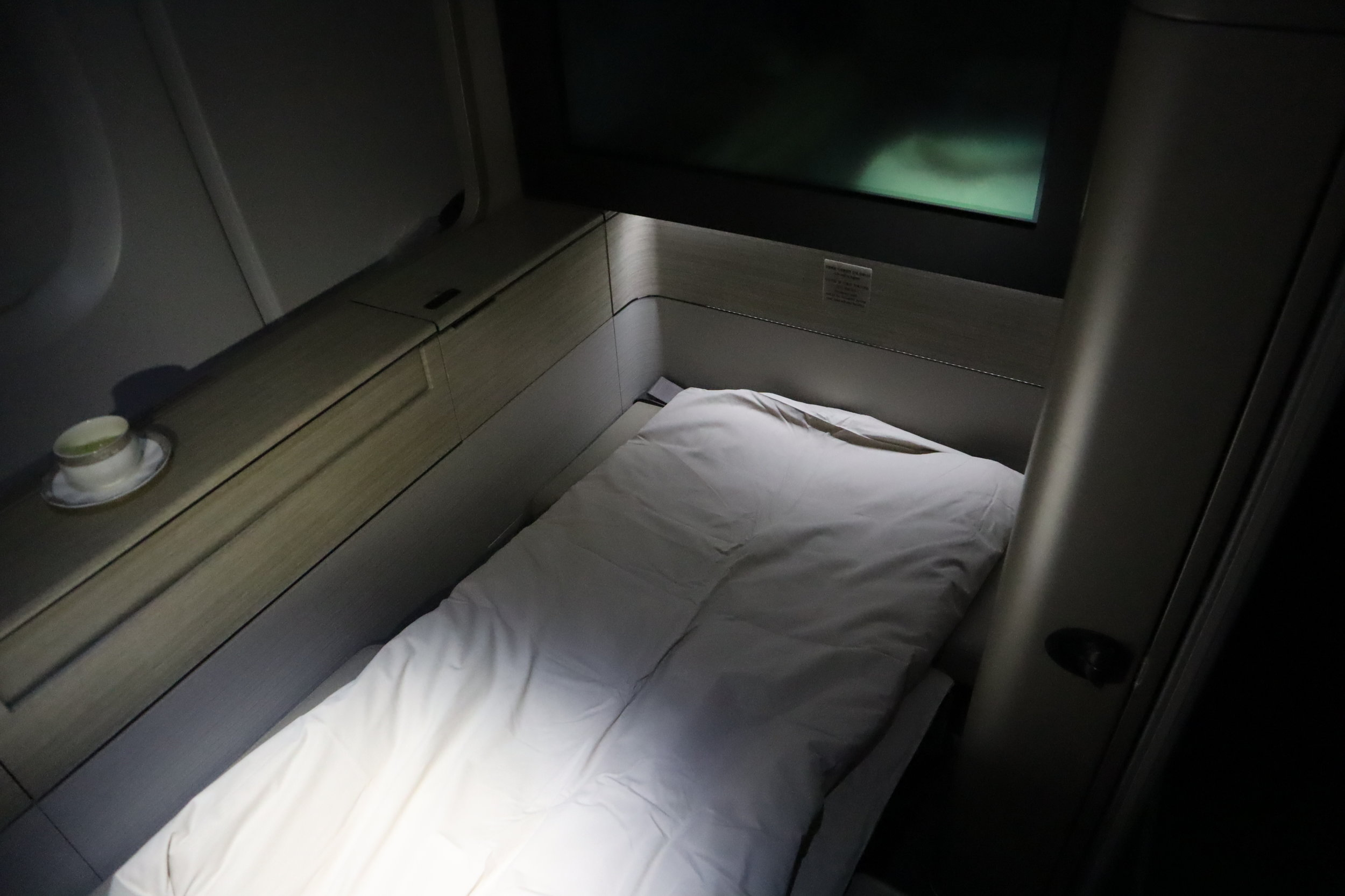 Asiana Airlines First Class – Lie-flat bed