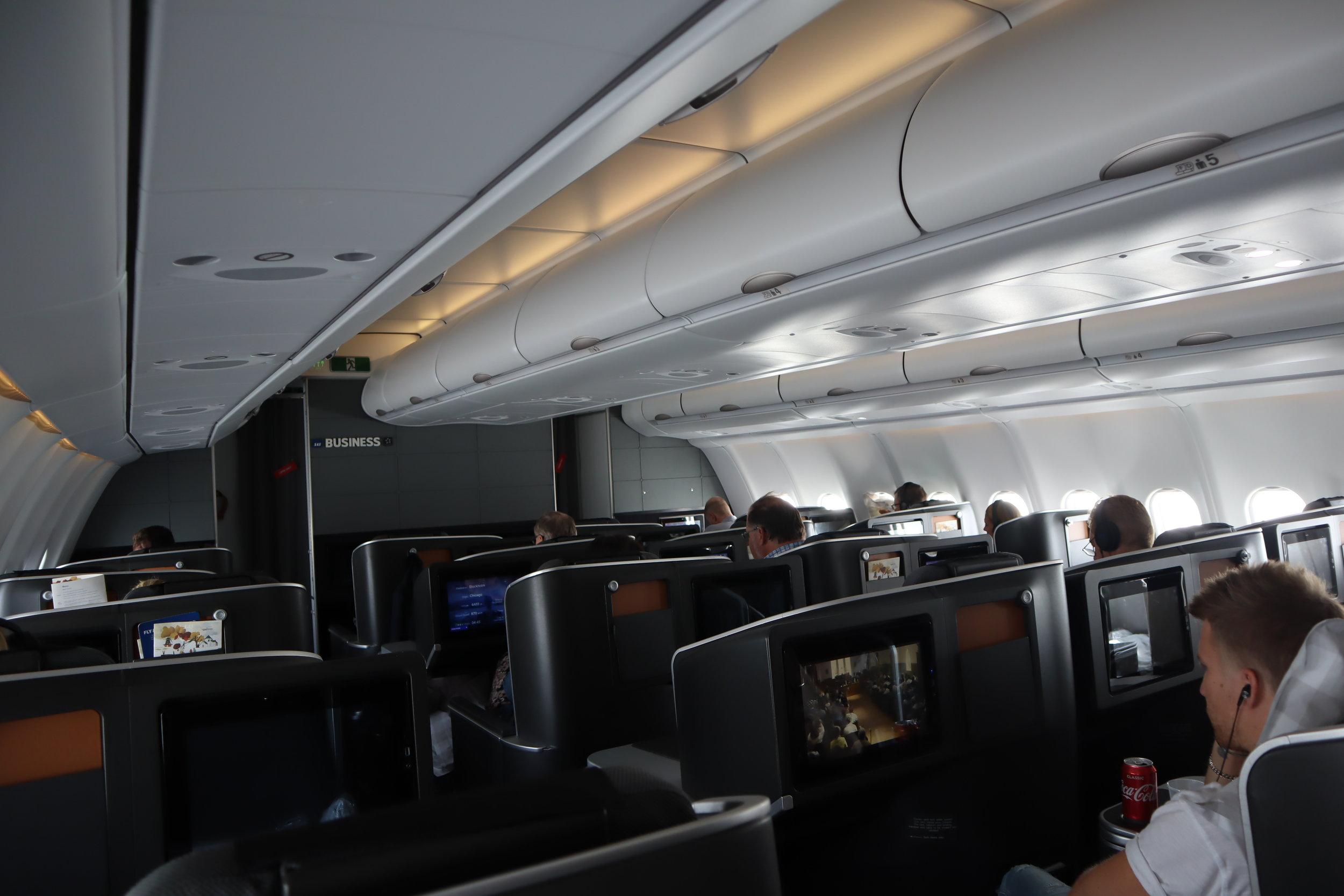 SAS business class – Cabin