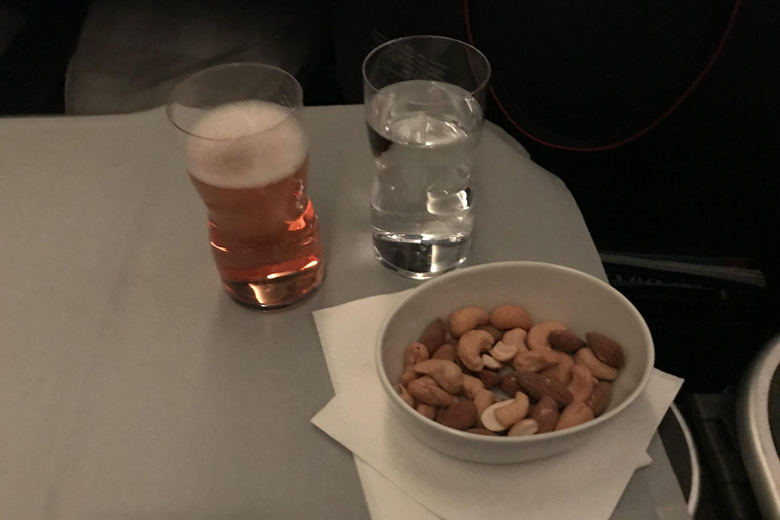 SAS business class – Rosé champagne