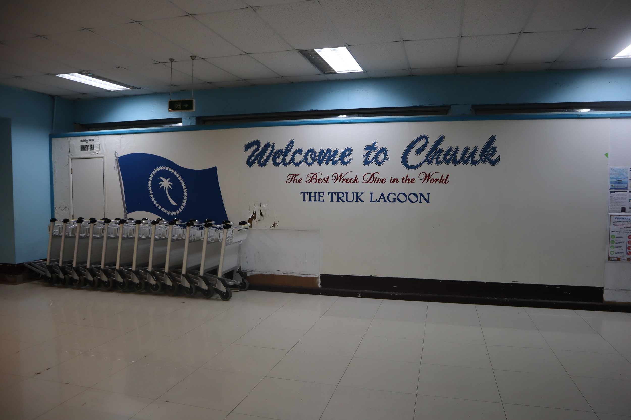 Welcome to Chuuk sign