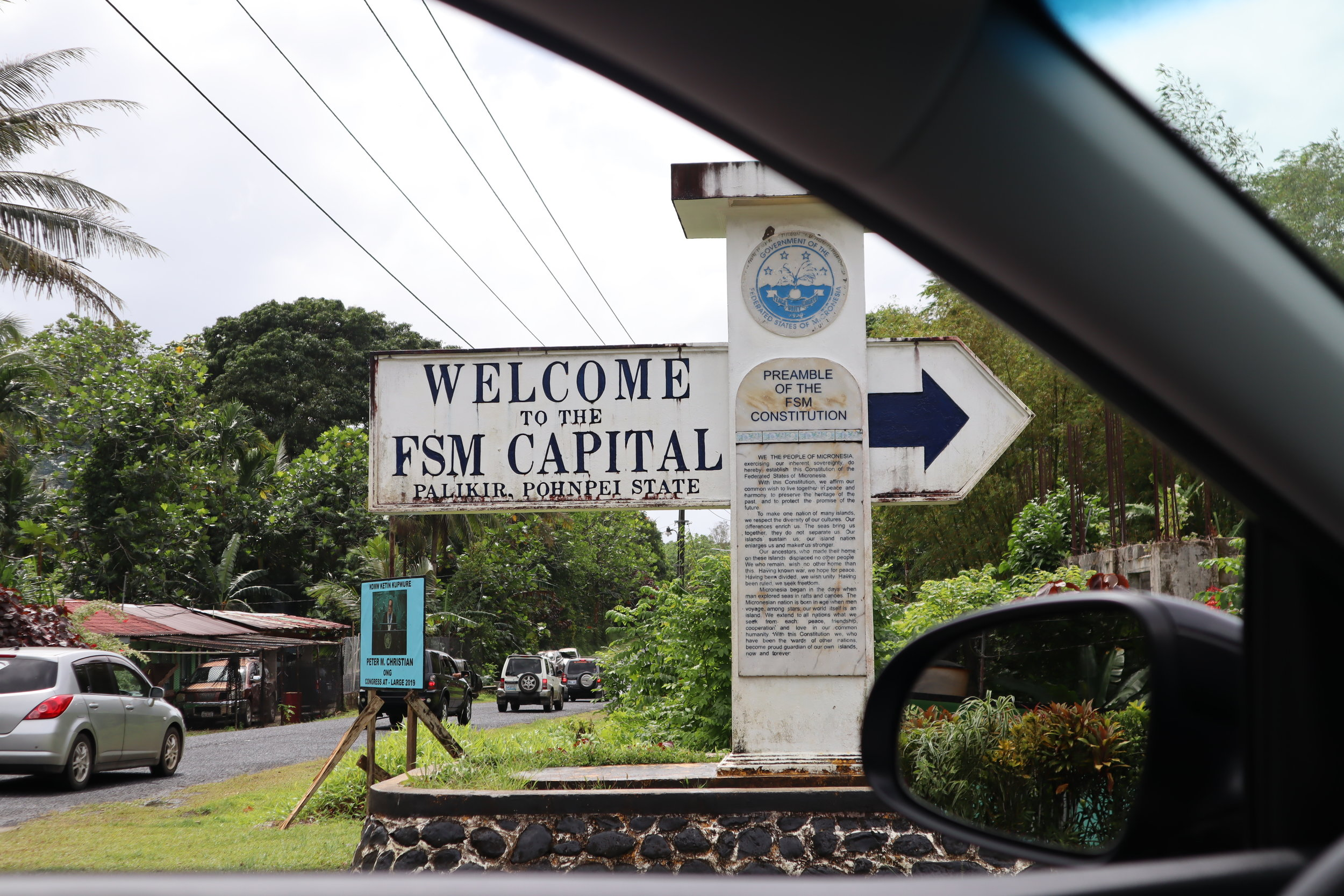 The road to Palikir, the capital