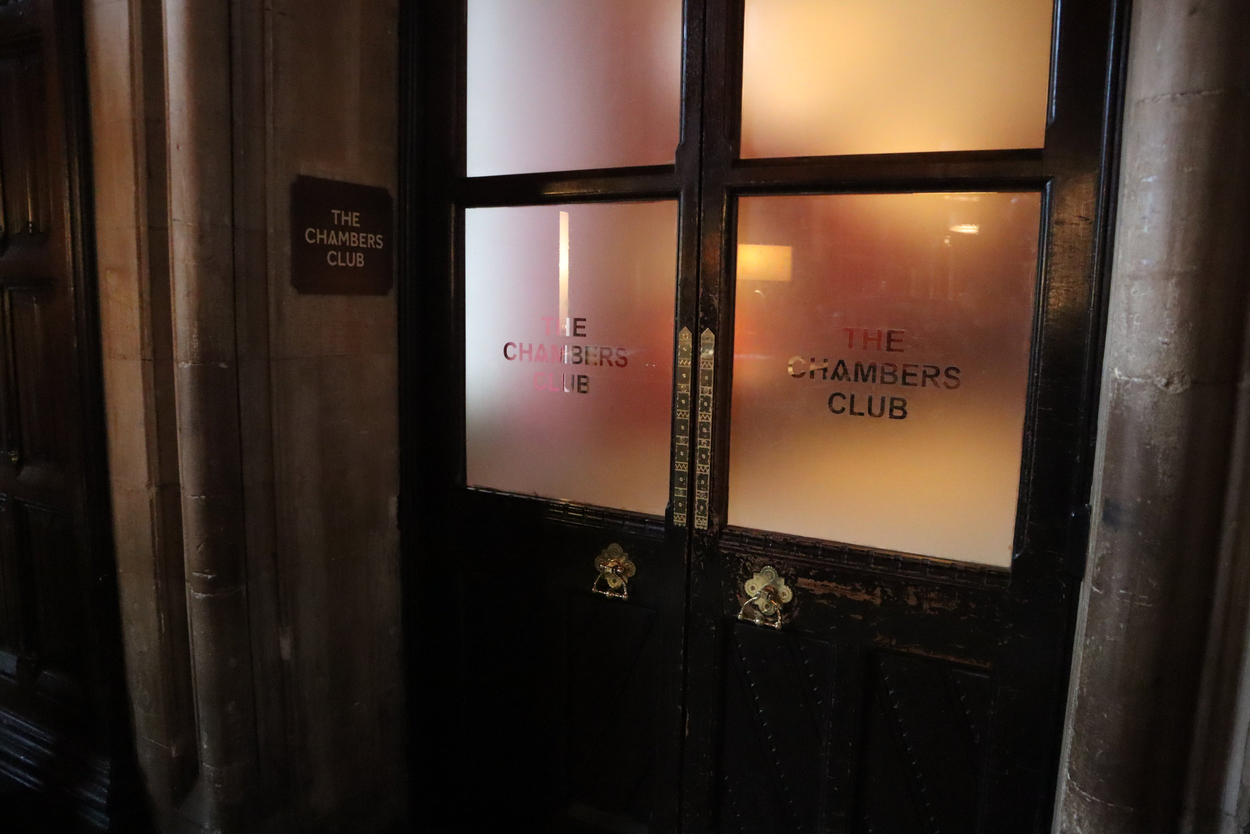 St. Pancras Renaissance Hotel London – Chambers Club entrance