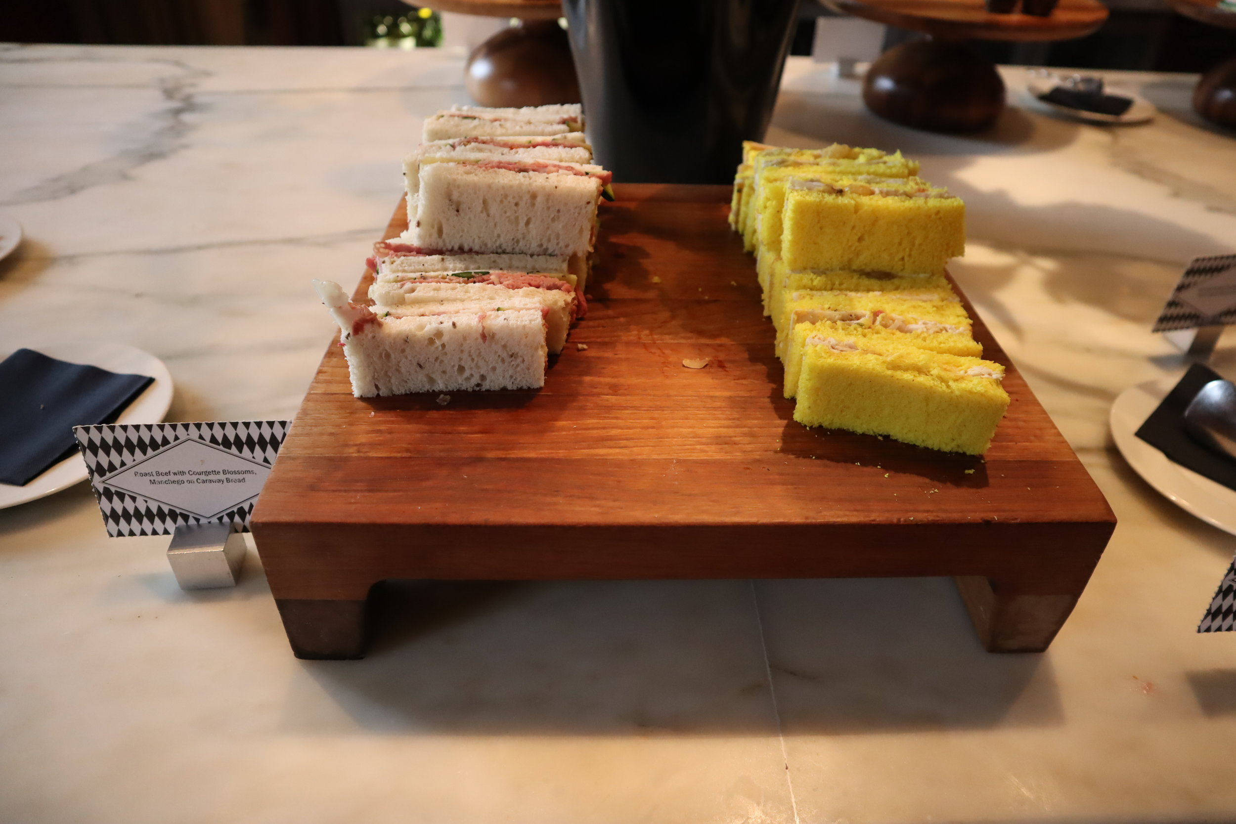 St. Pancras Renaissance Hotel London – Chambers Club afternoon tea selection