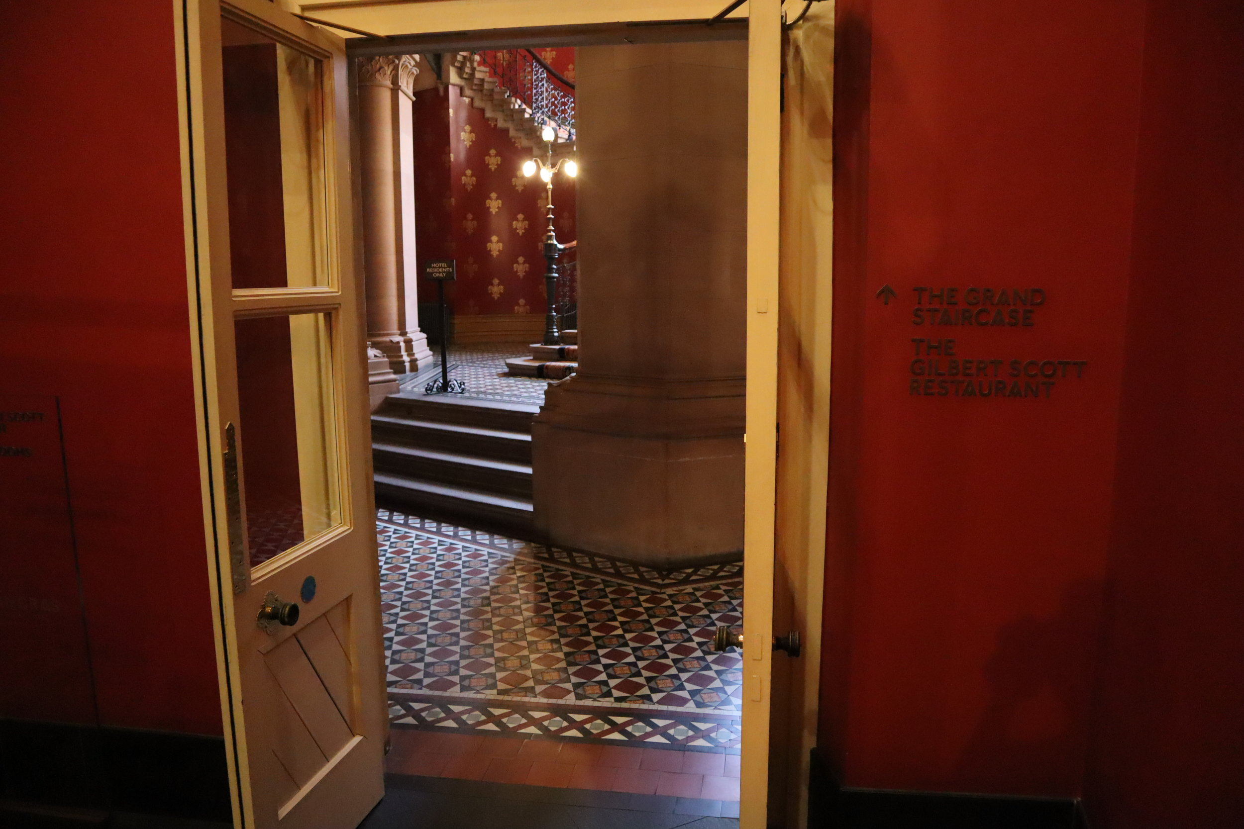 St. Pancras Renaissance Hotel London – Doorway to Chambers Wing