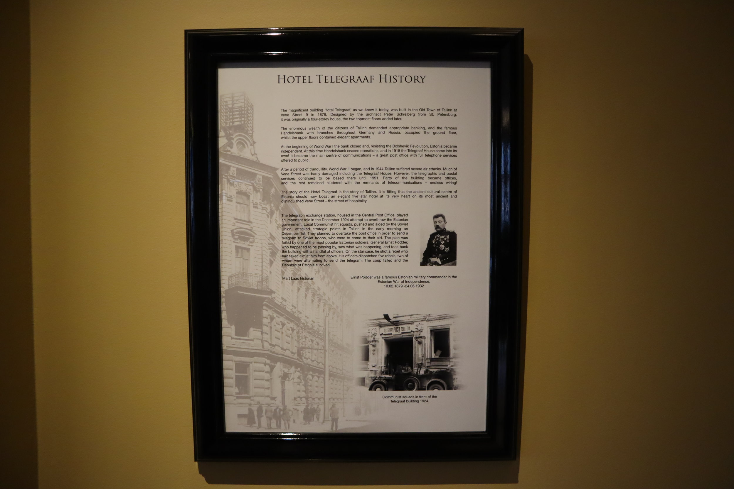 Hotel Telegraaf Tallinn – History of the hotel