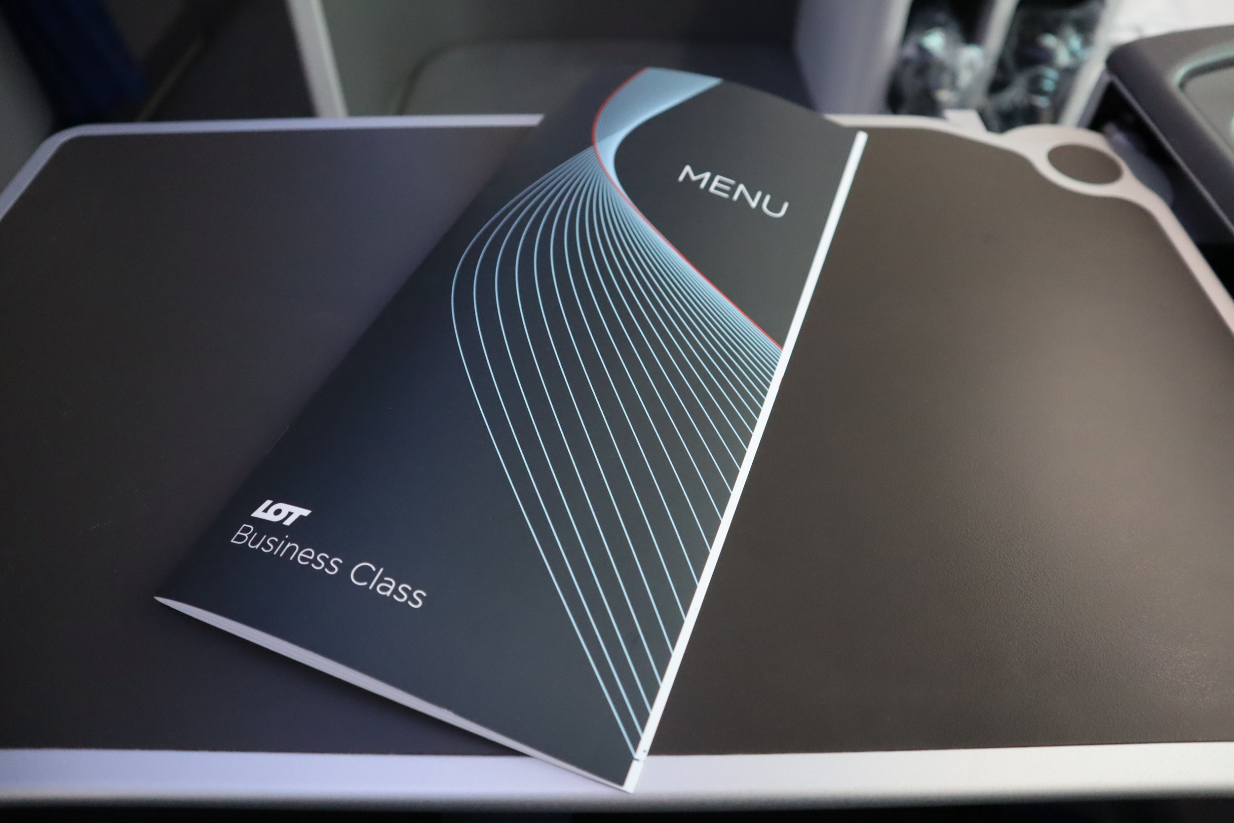 LOT Polish Airlines business class – Menu