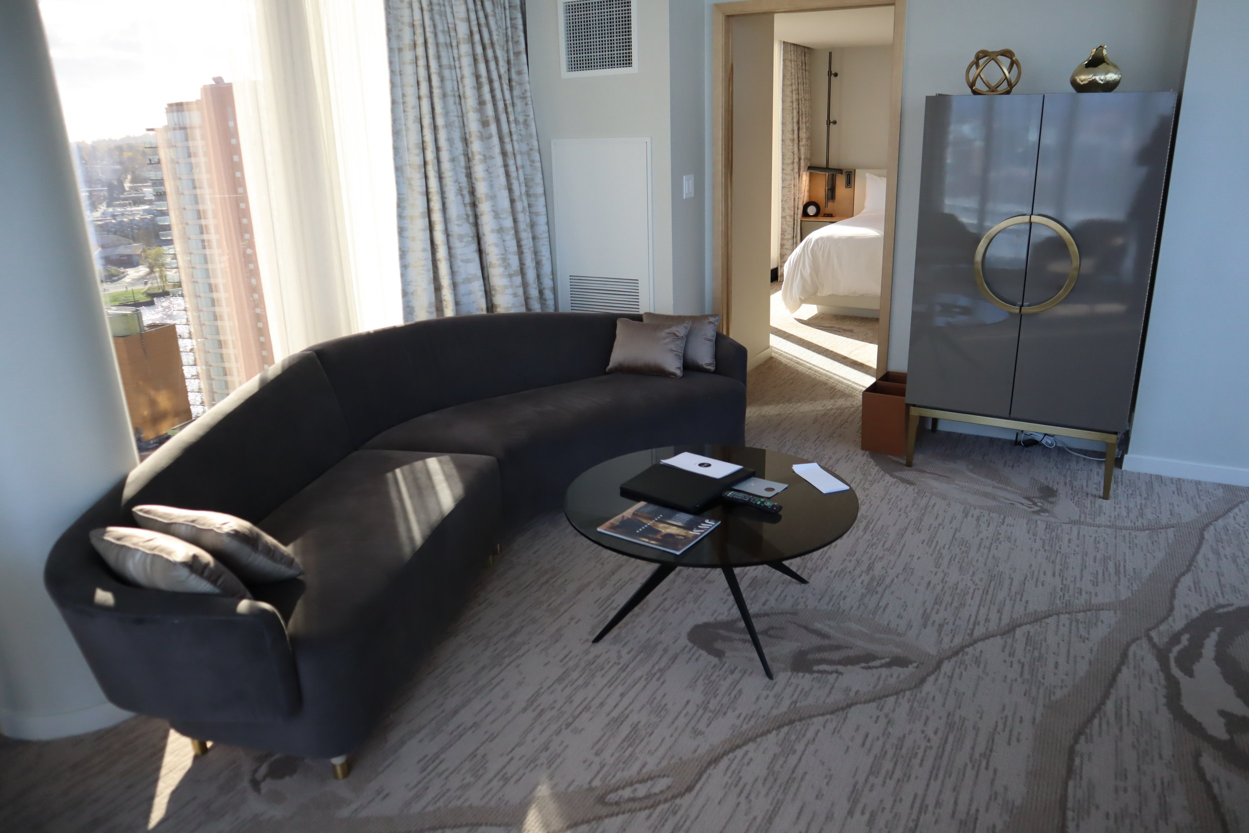 JW Marriott Parq Vancouver – One-bedroom suite living room