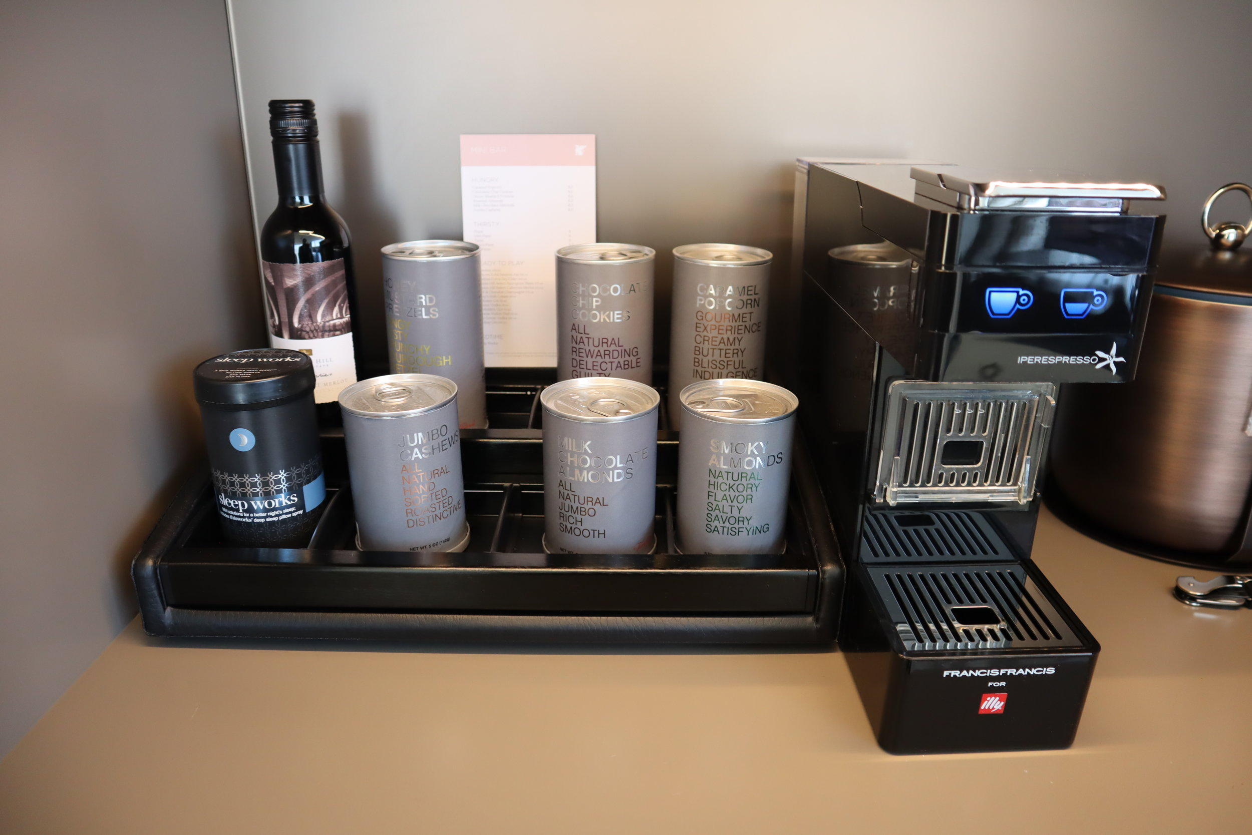 JW Marriott Parq Vancouver – Pantry contents