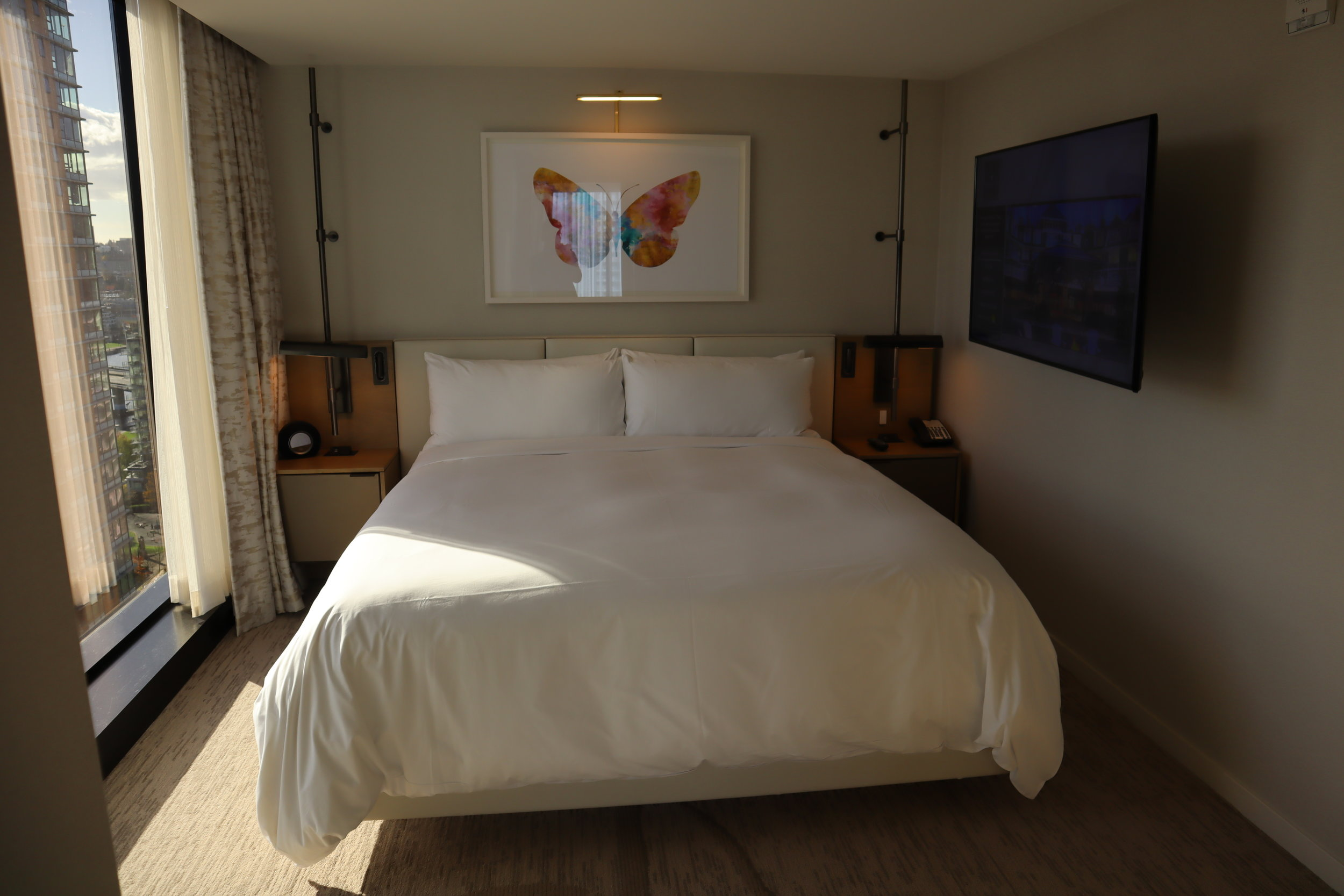 JW Marriott Parq Vancouver – One-bedroom suite bedroom