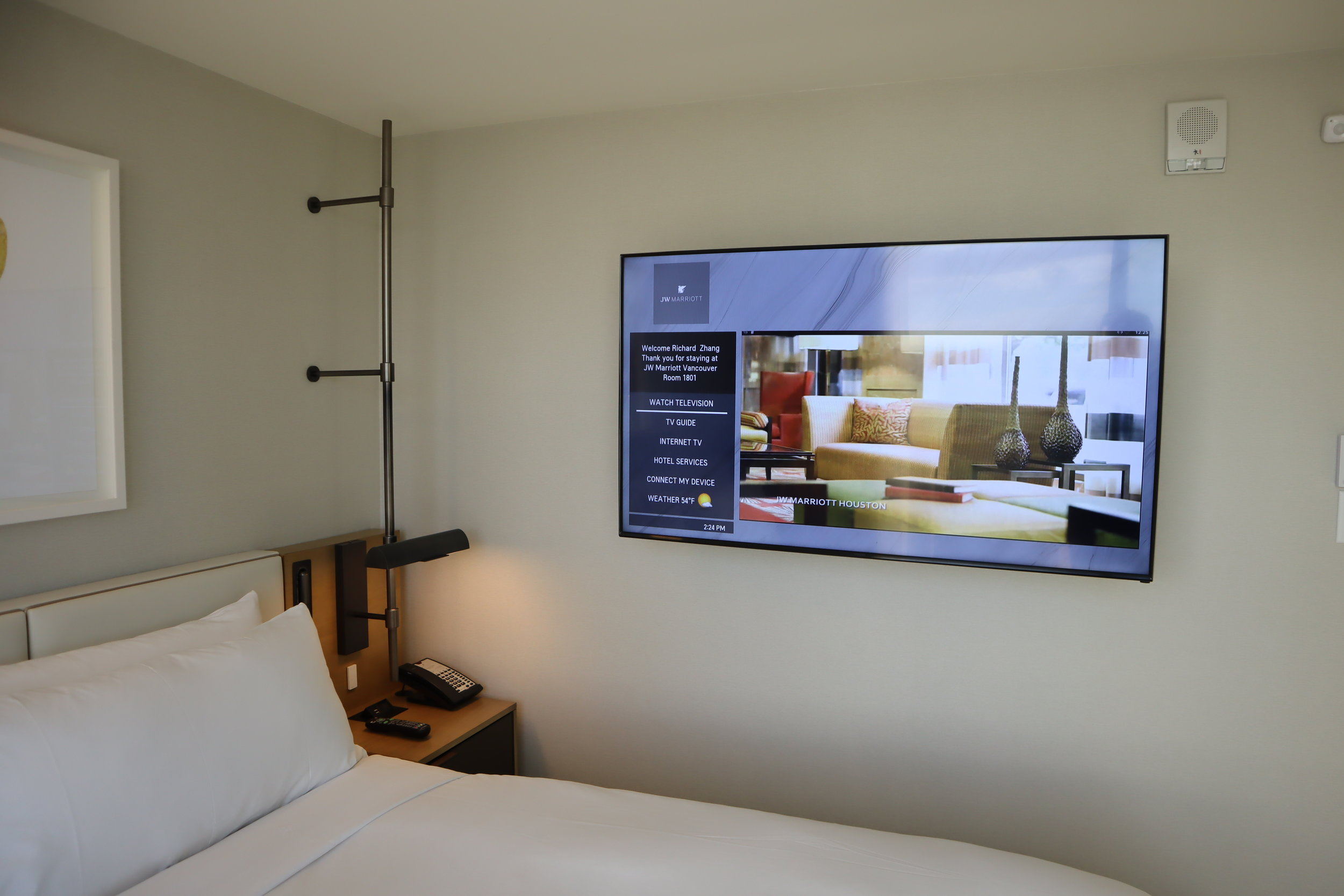 JW Marriott Parq Vancouver – Bedroom television