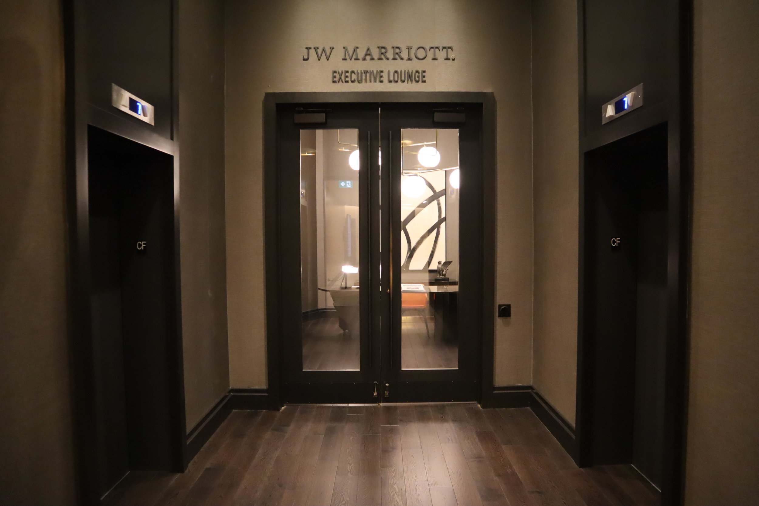 JW Marriott Parq Vancouver – Executive Lounge entrance