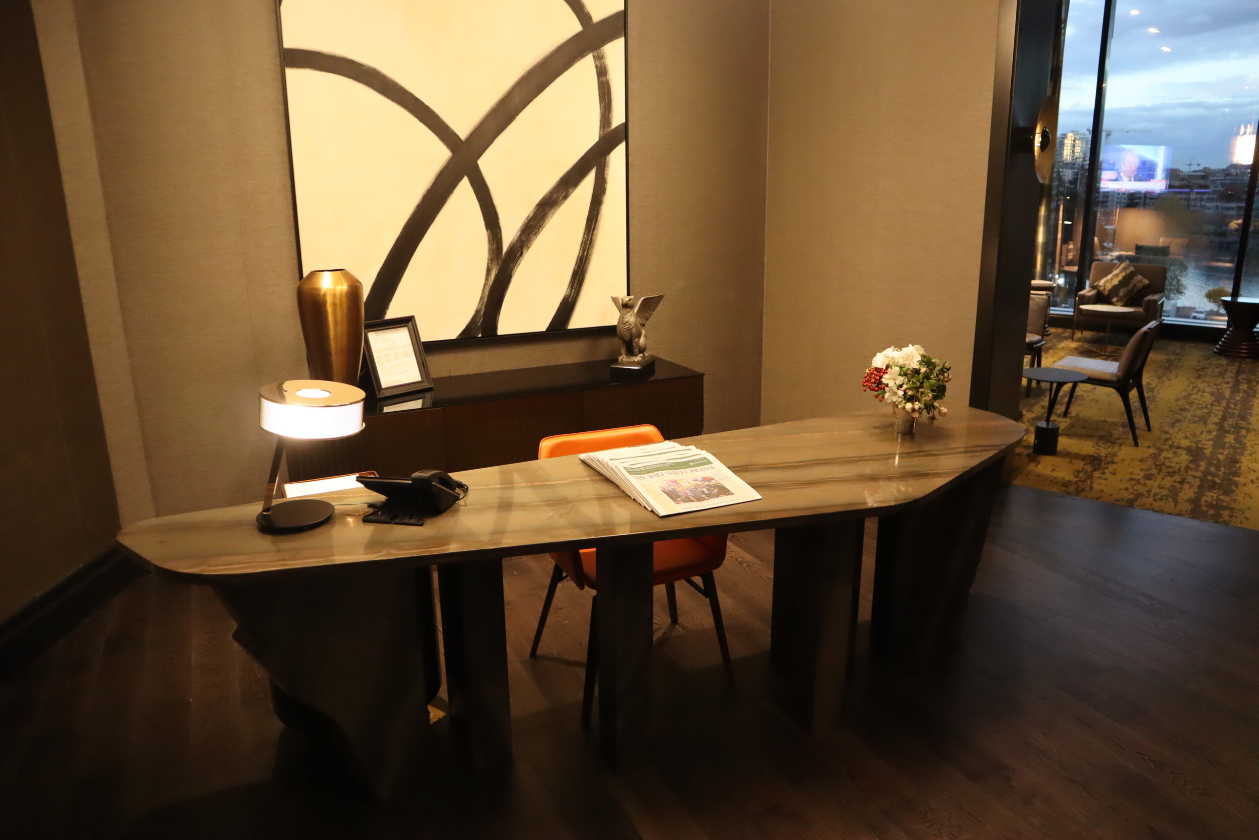 JW Marriott Parq Vancouver – Executive Lounge front desk