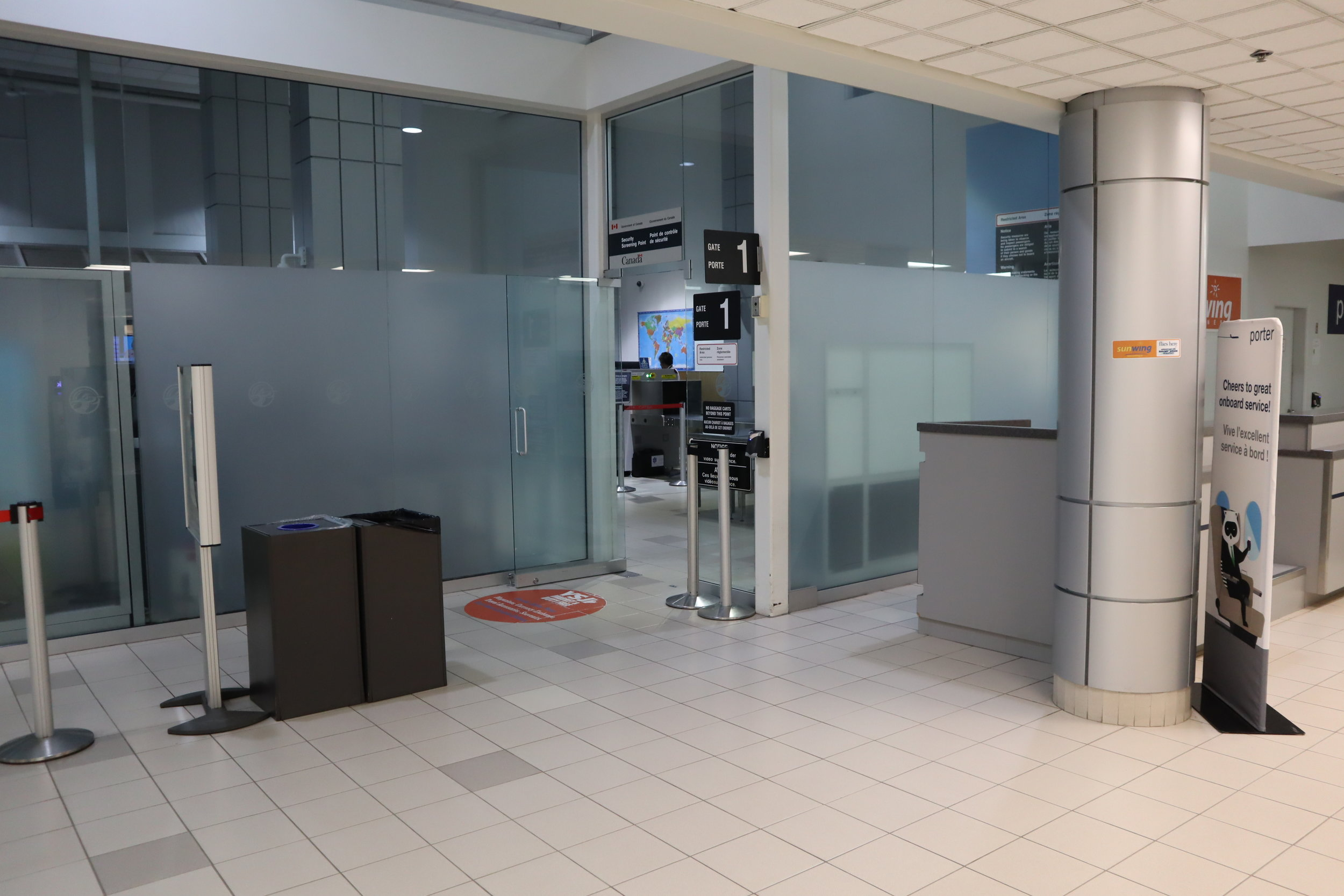 Saint John Airport – Security checkpoint