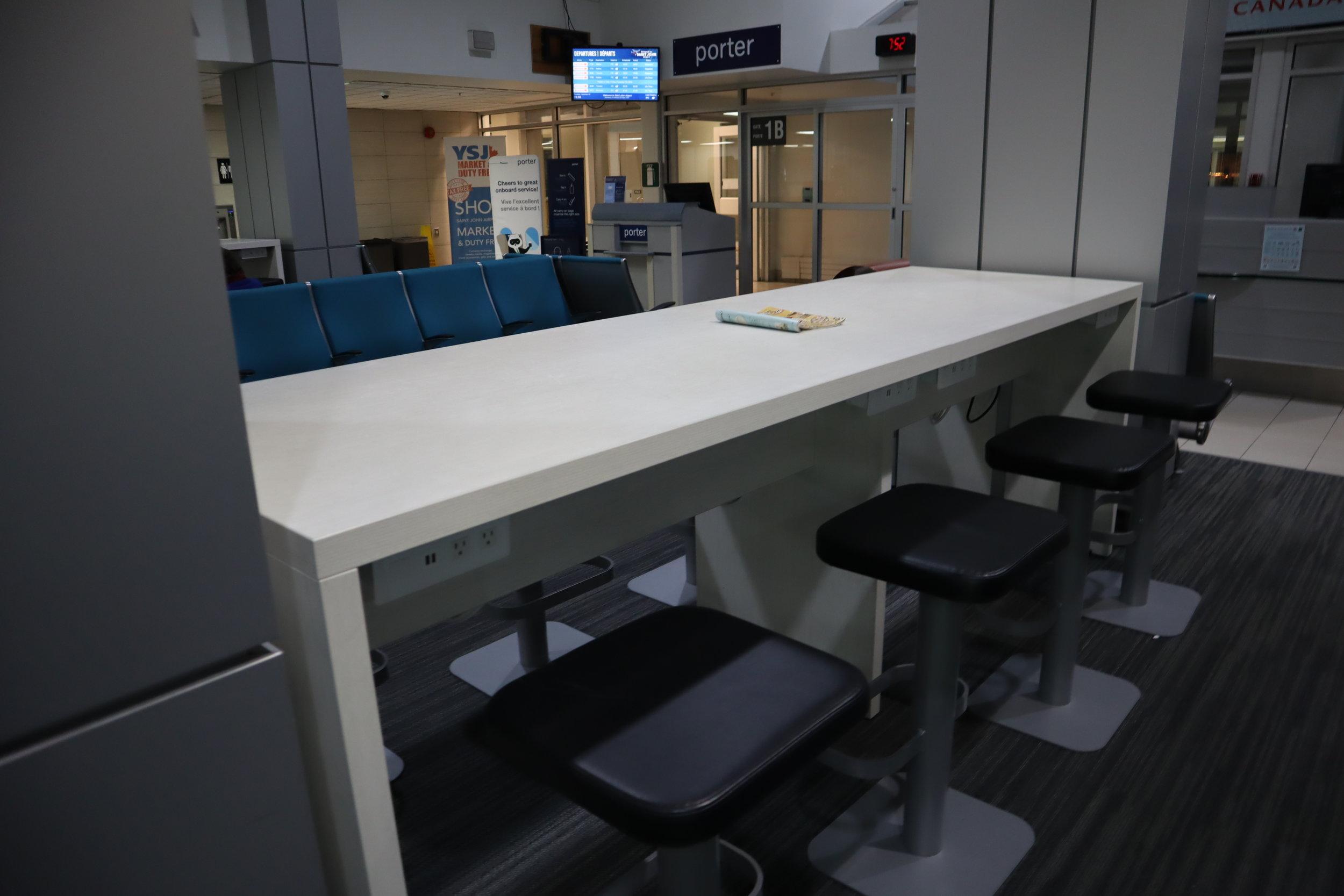 Saint John Airport – Airside waiting area