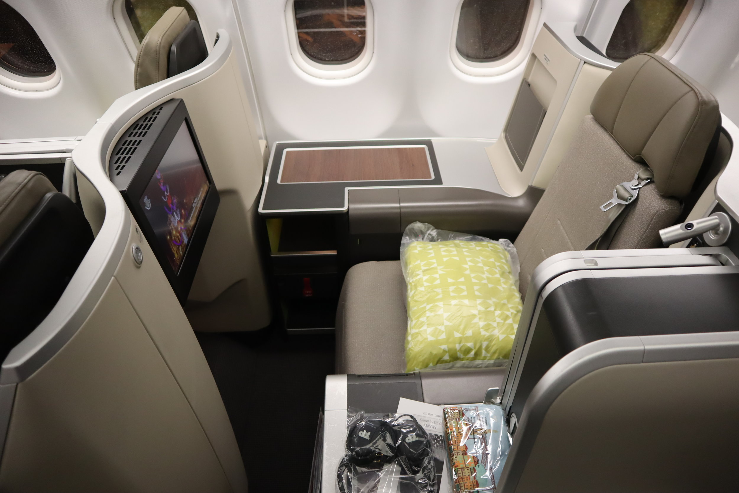 TAP Air Portugal business class – Throne seat