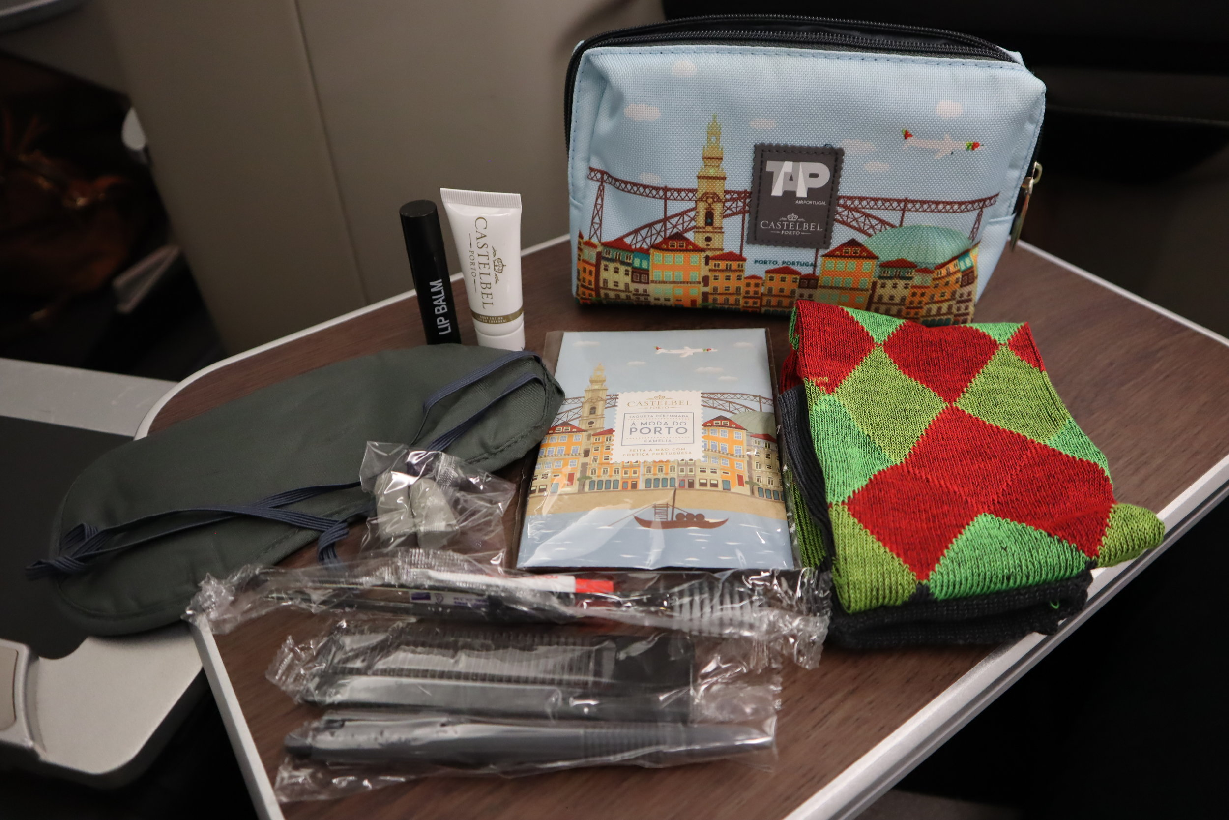 TAP Air Portugal business class – Amenity kit contents