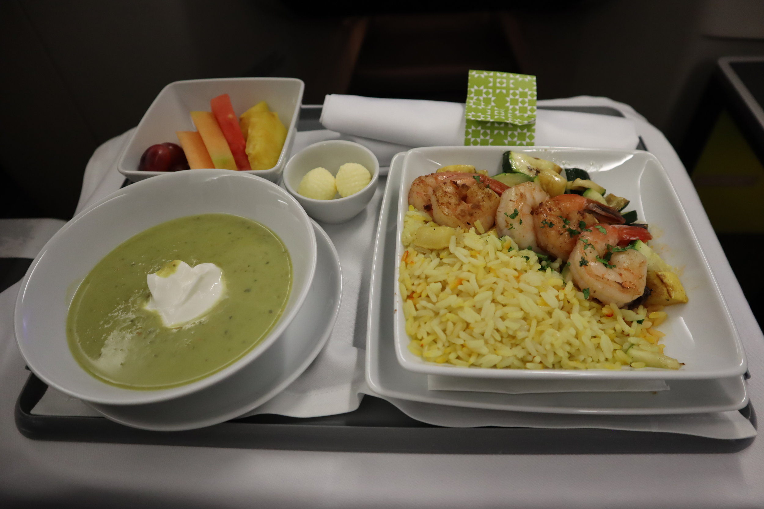 TAP Air Portugal business class – Meal service