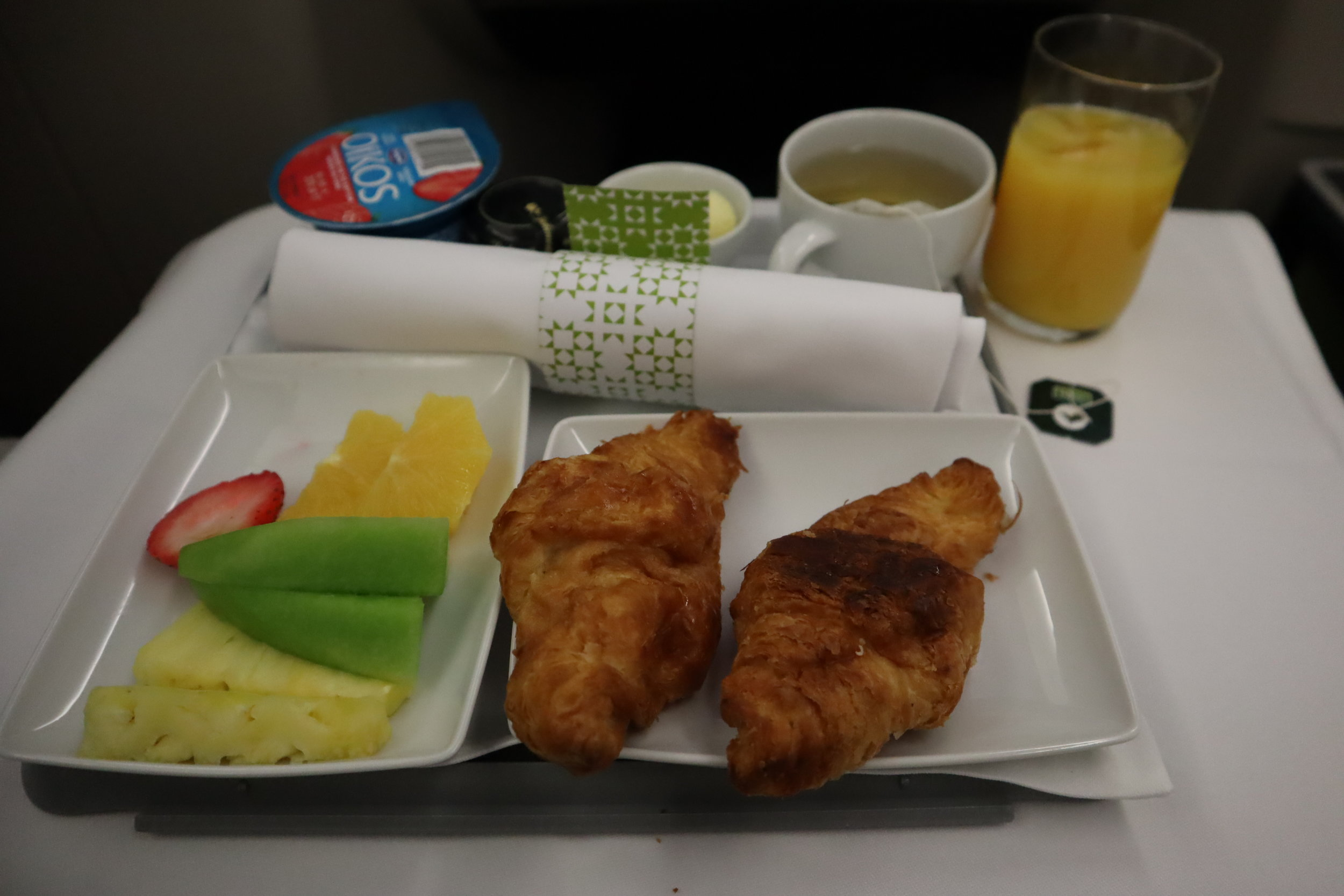 TAP Air Portugal business class – Pre-arrival meal