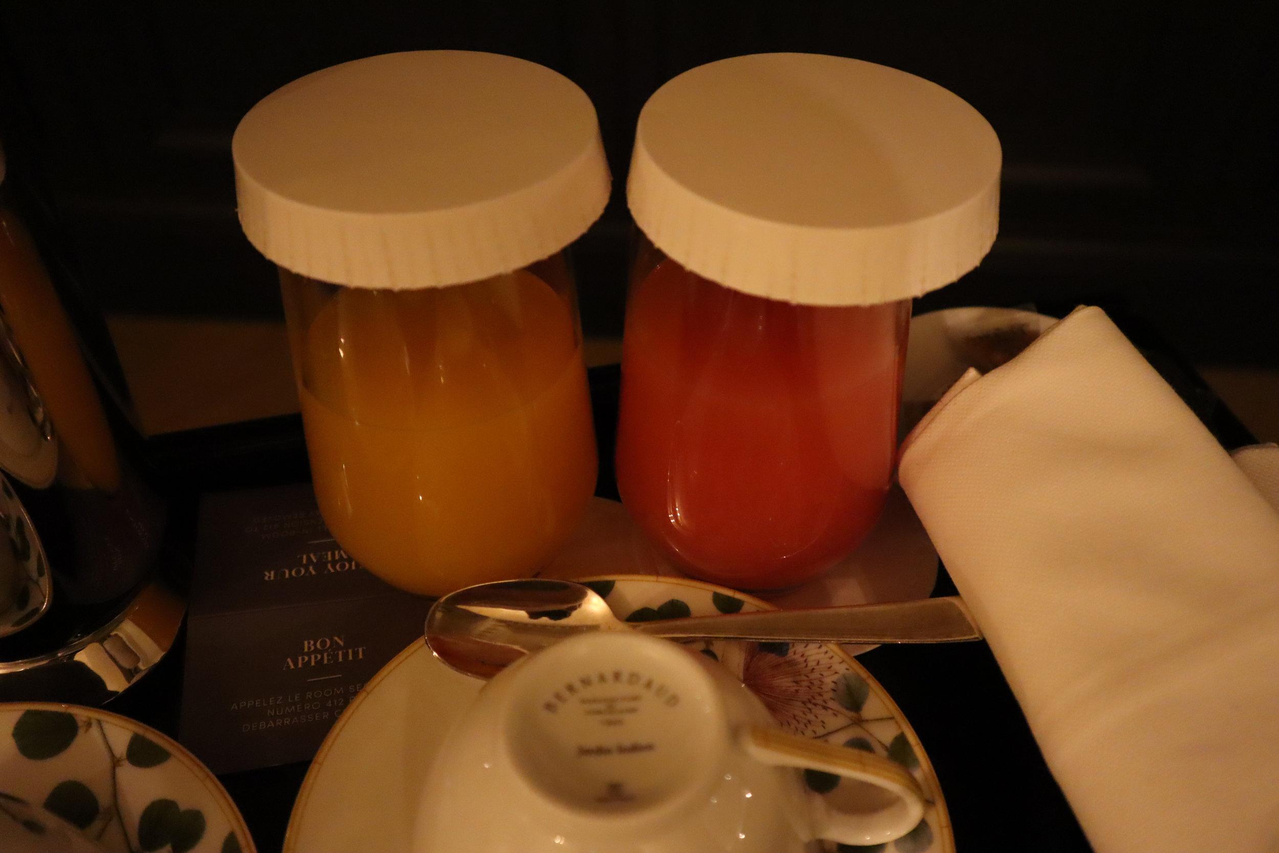 Hôtel de Berri Paris – American Breakfast juice