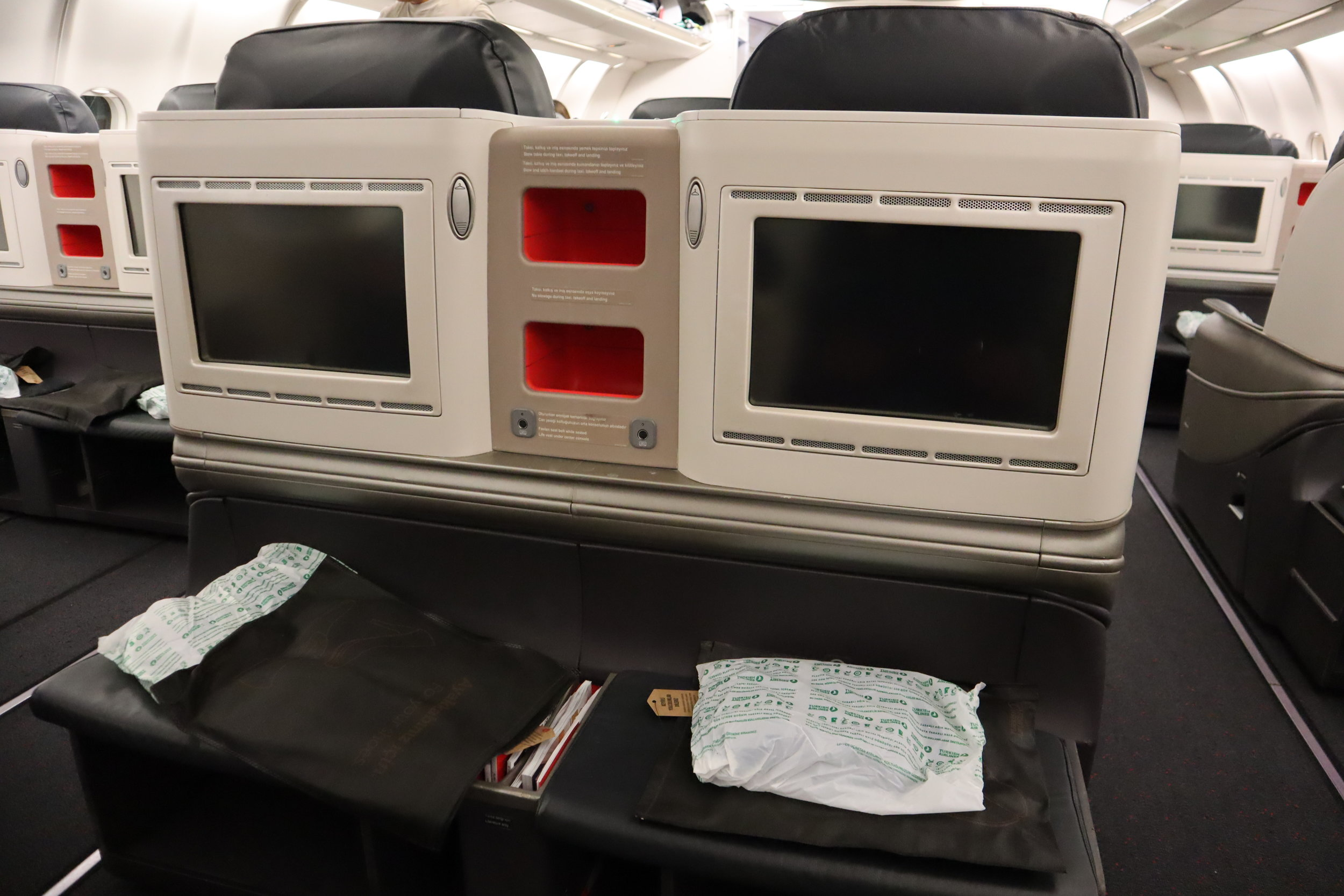 Turkish Airlines A330 business class – Seat pitch