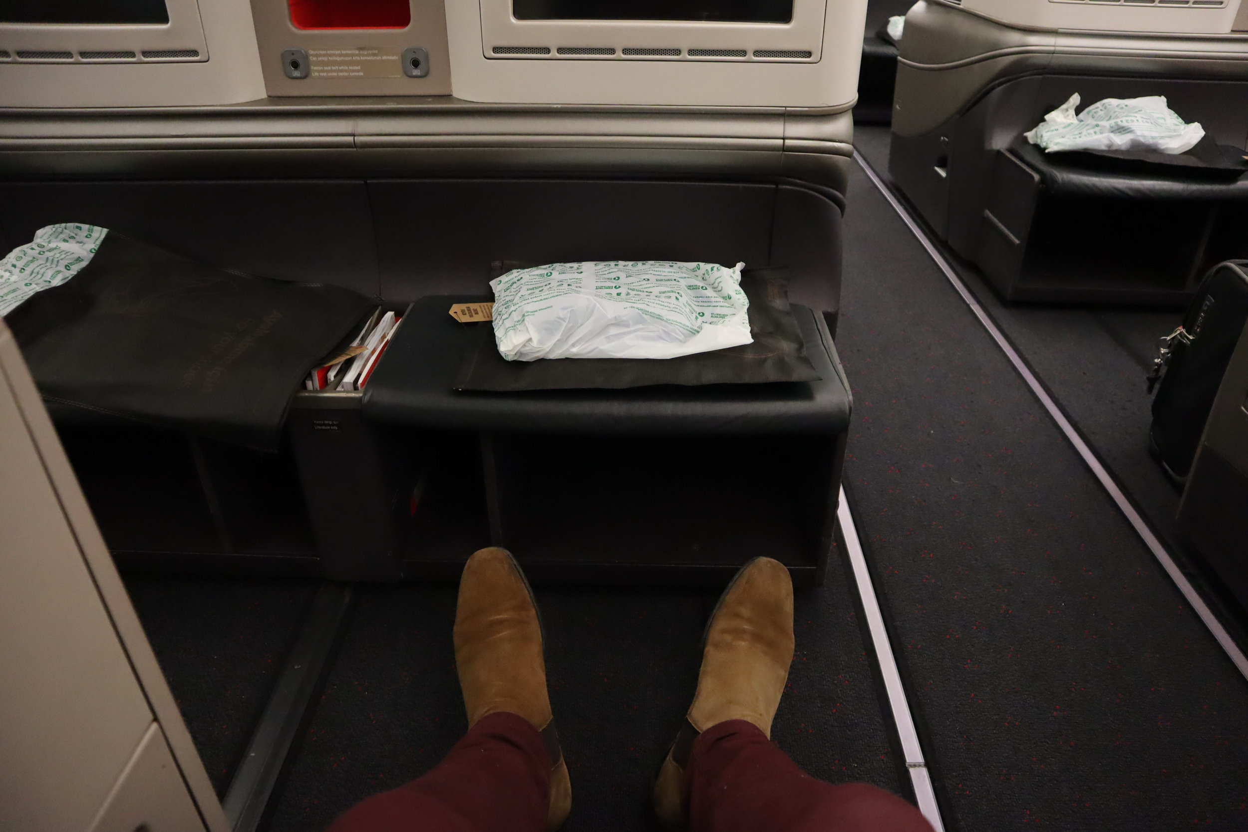 Turkish Airlines A330 business class – Legroom