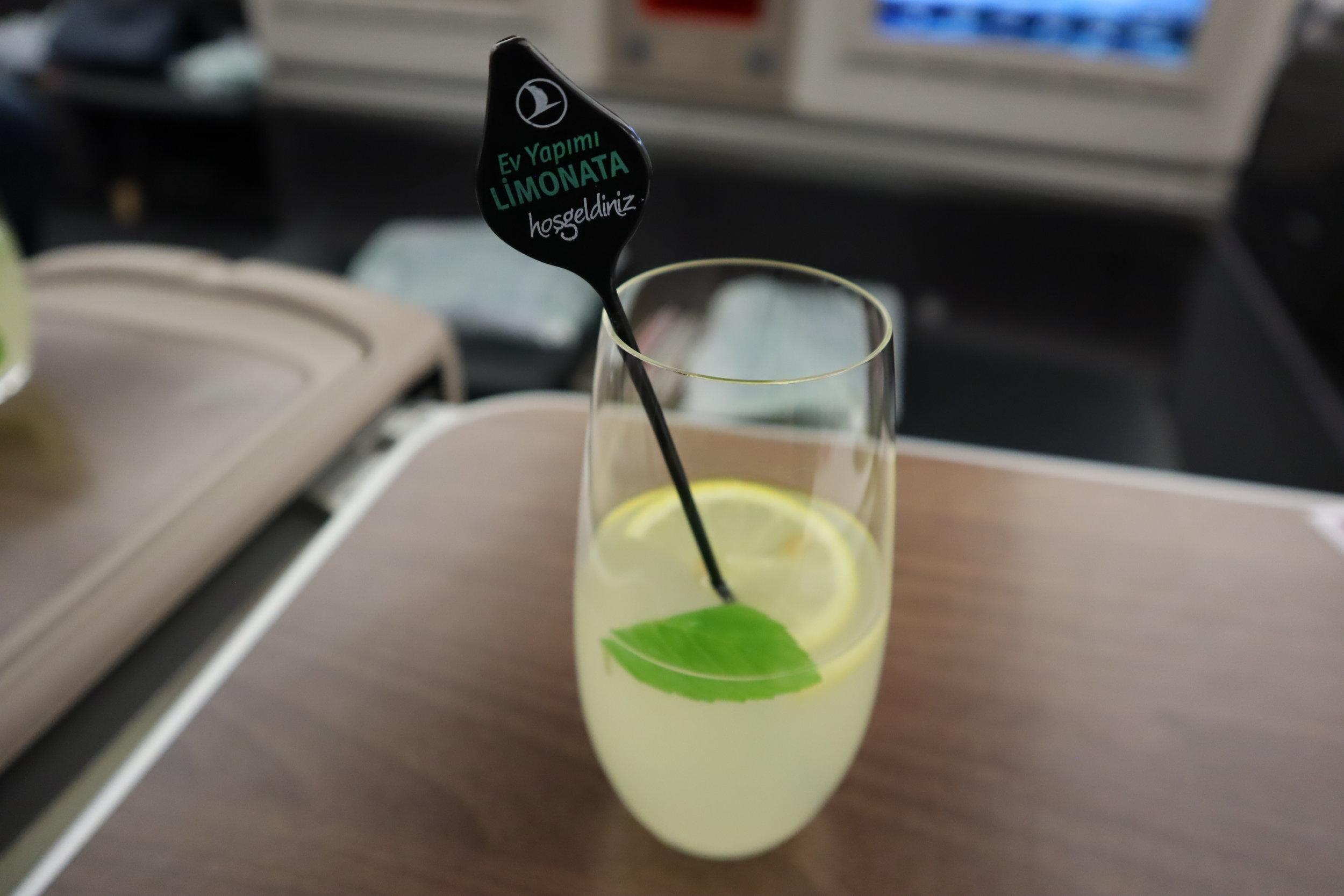 Turkish Airlines A330 business class – Welcome drink
