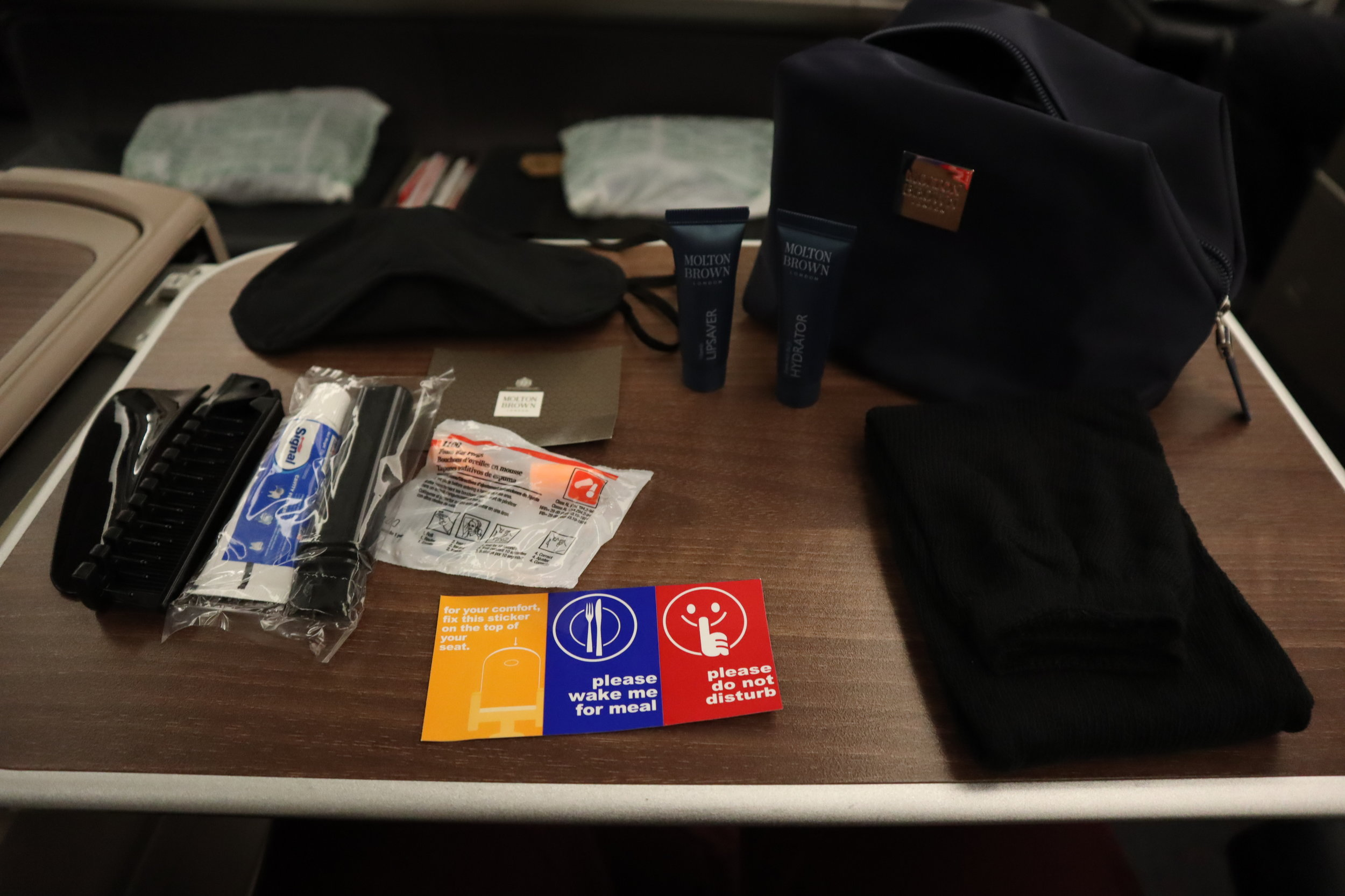 Turkish Airlines A330 business class – Amenity kit contents