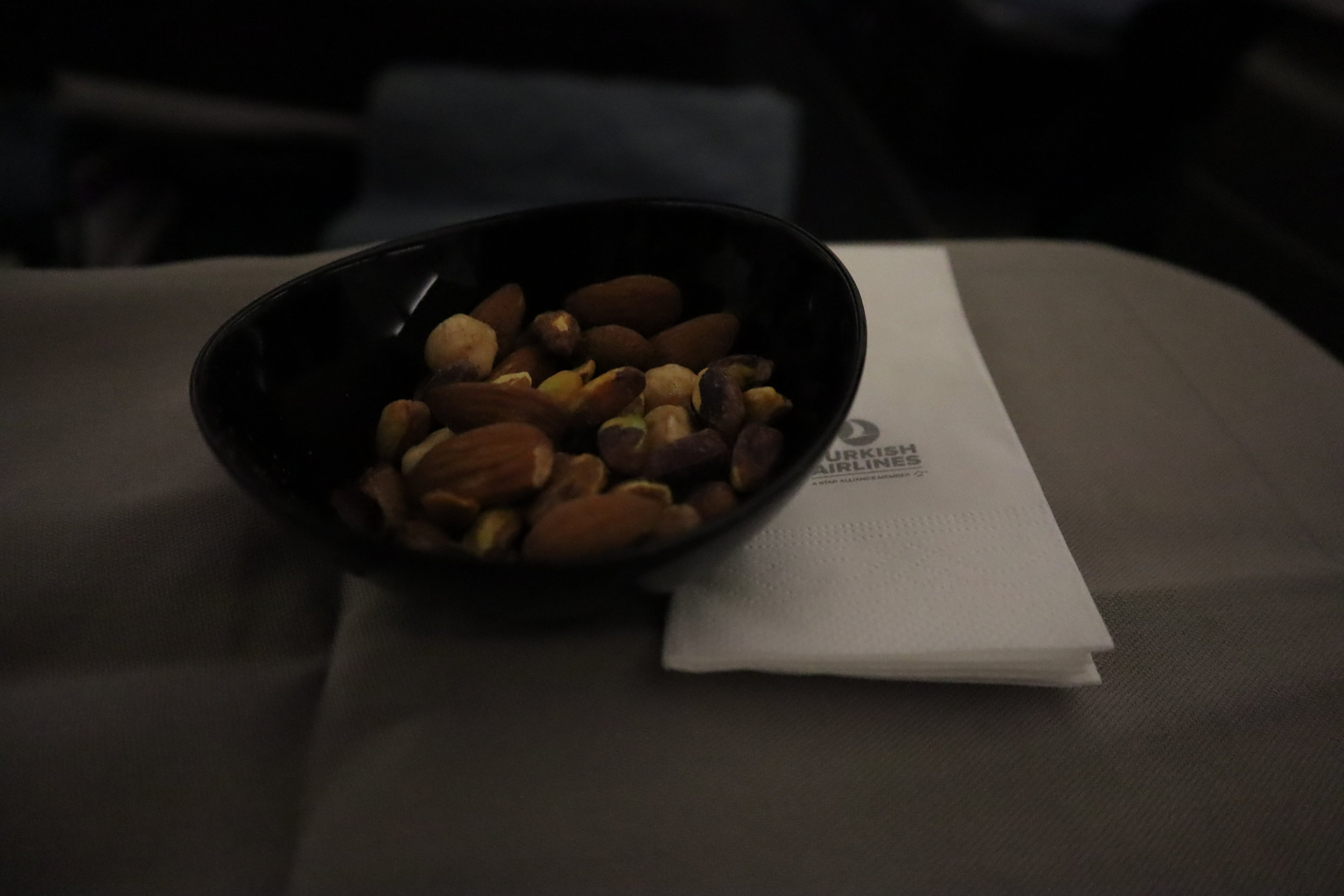 Turkish Airlines A330 business class – Mixed nuts