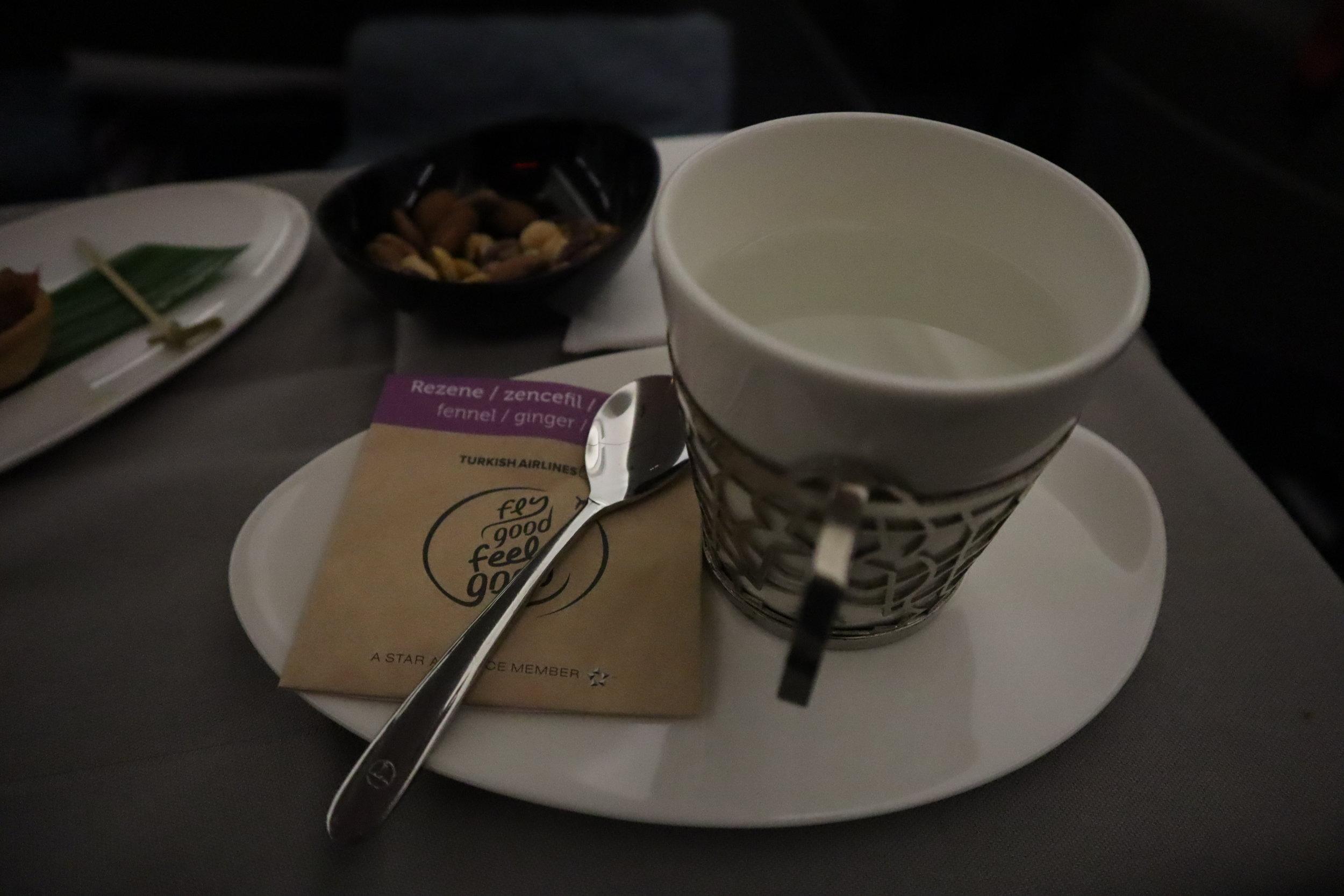 Turkish Airlines A330 business class – Wellness tea