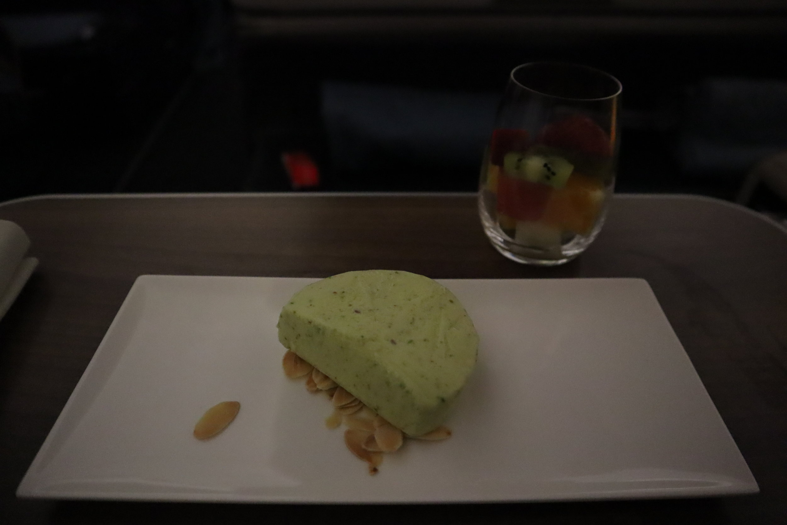 Turkish Airlines A330 business class – Pistachio ice cream