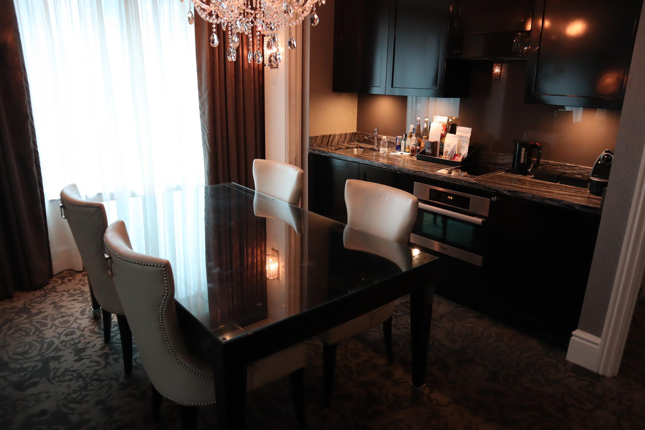 St. Regis Toronto – Two-bedroom suite dining room