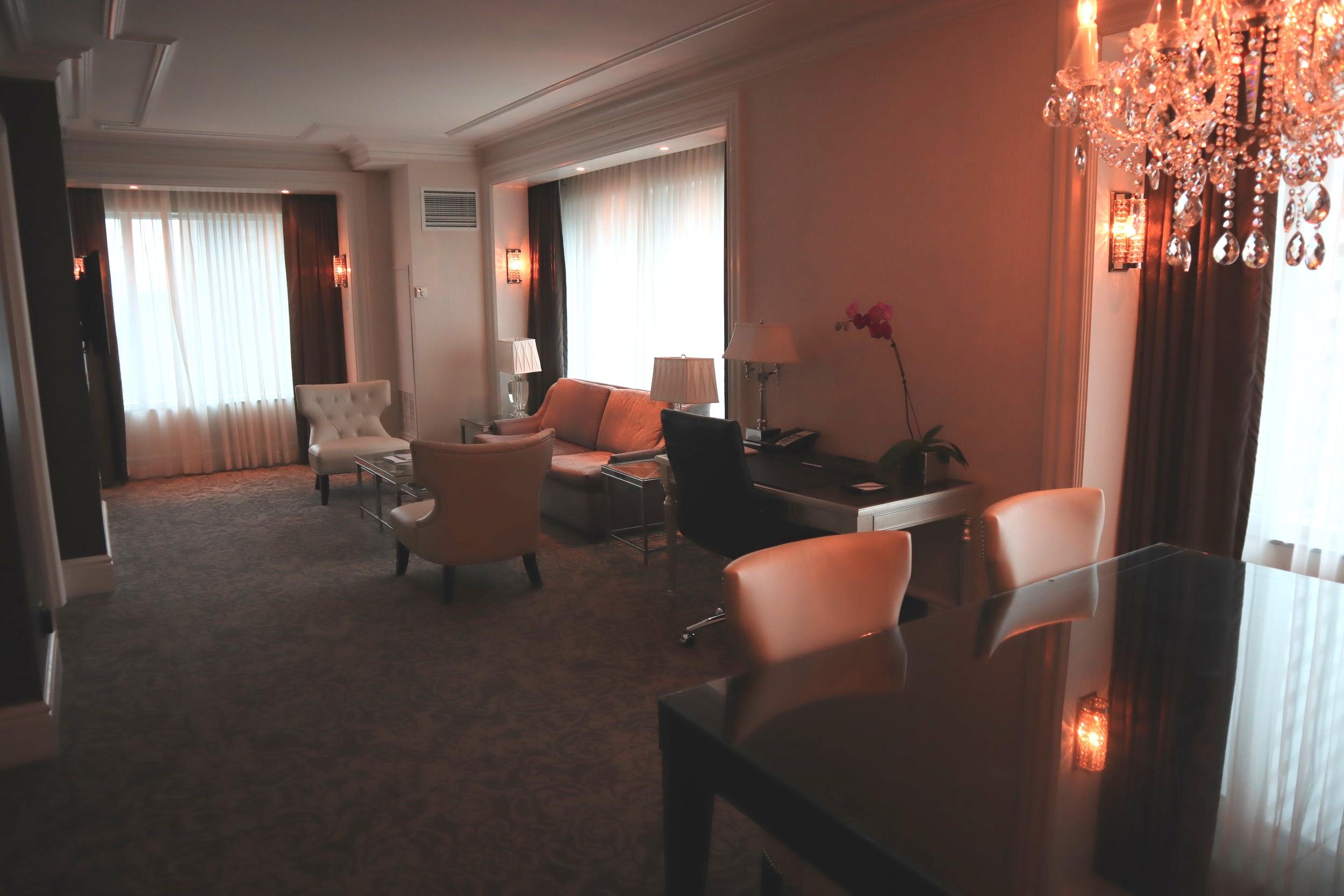St. Regis Toronto – Two-bedroom suite living area