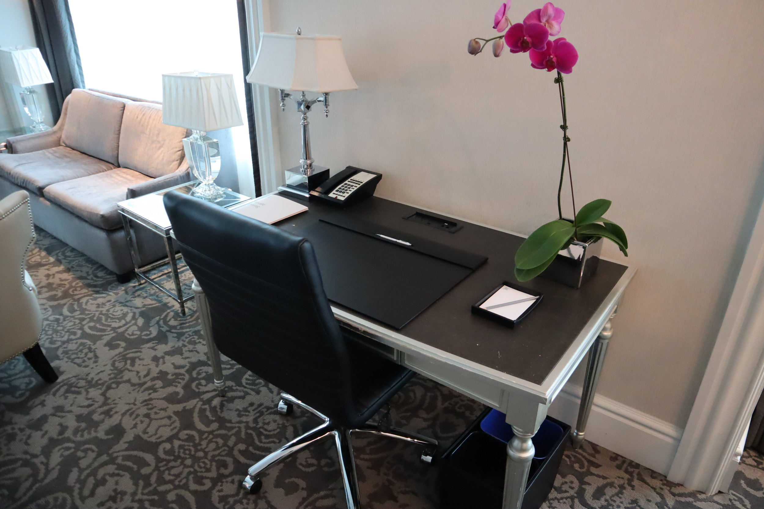 St. Regis Toronto – Two-bedroom suite desk