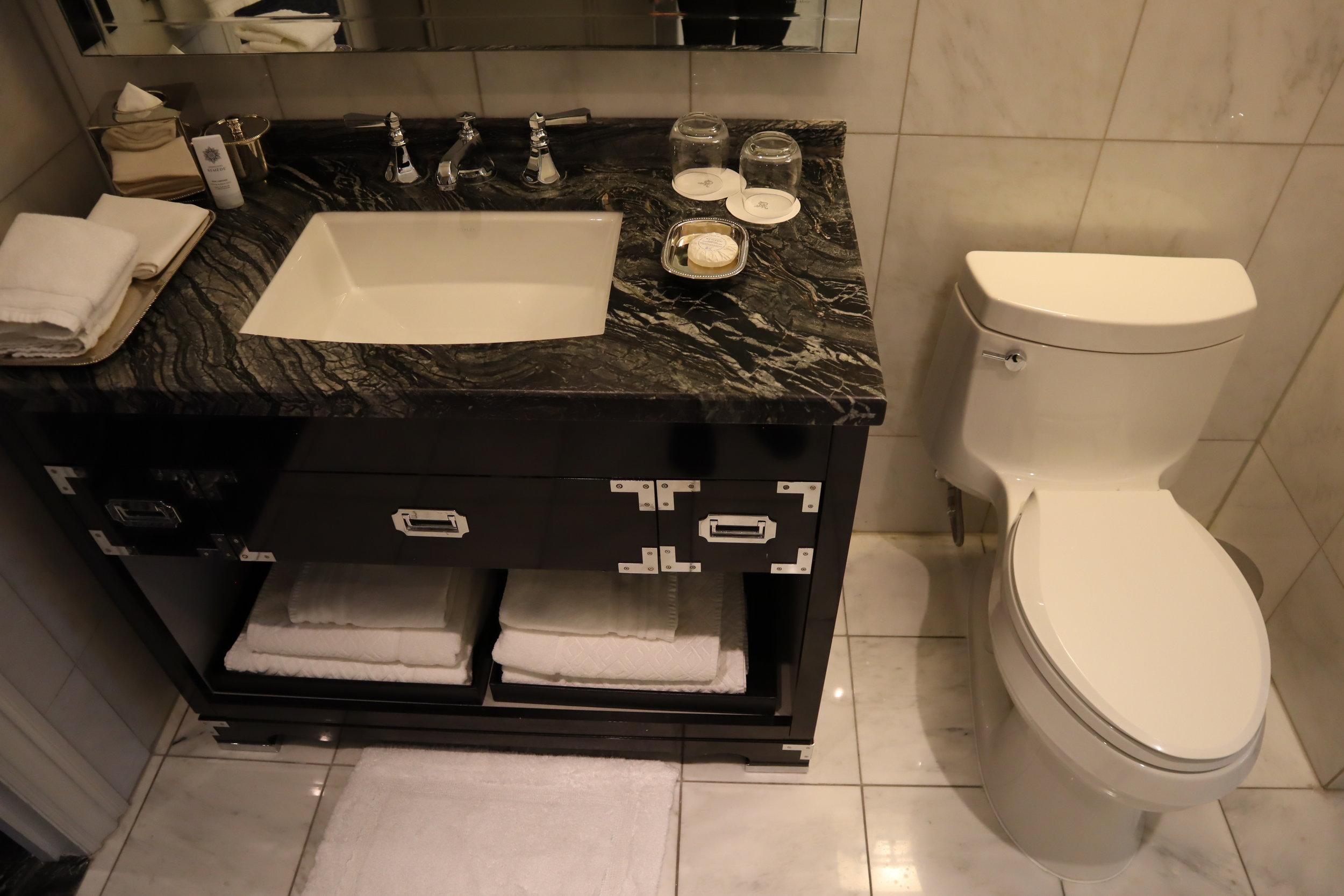 St. Regis Toronto – Two-bedroom suite guest bathroom sink & toilet