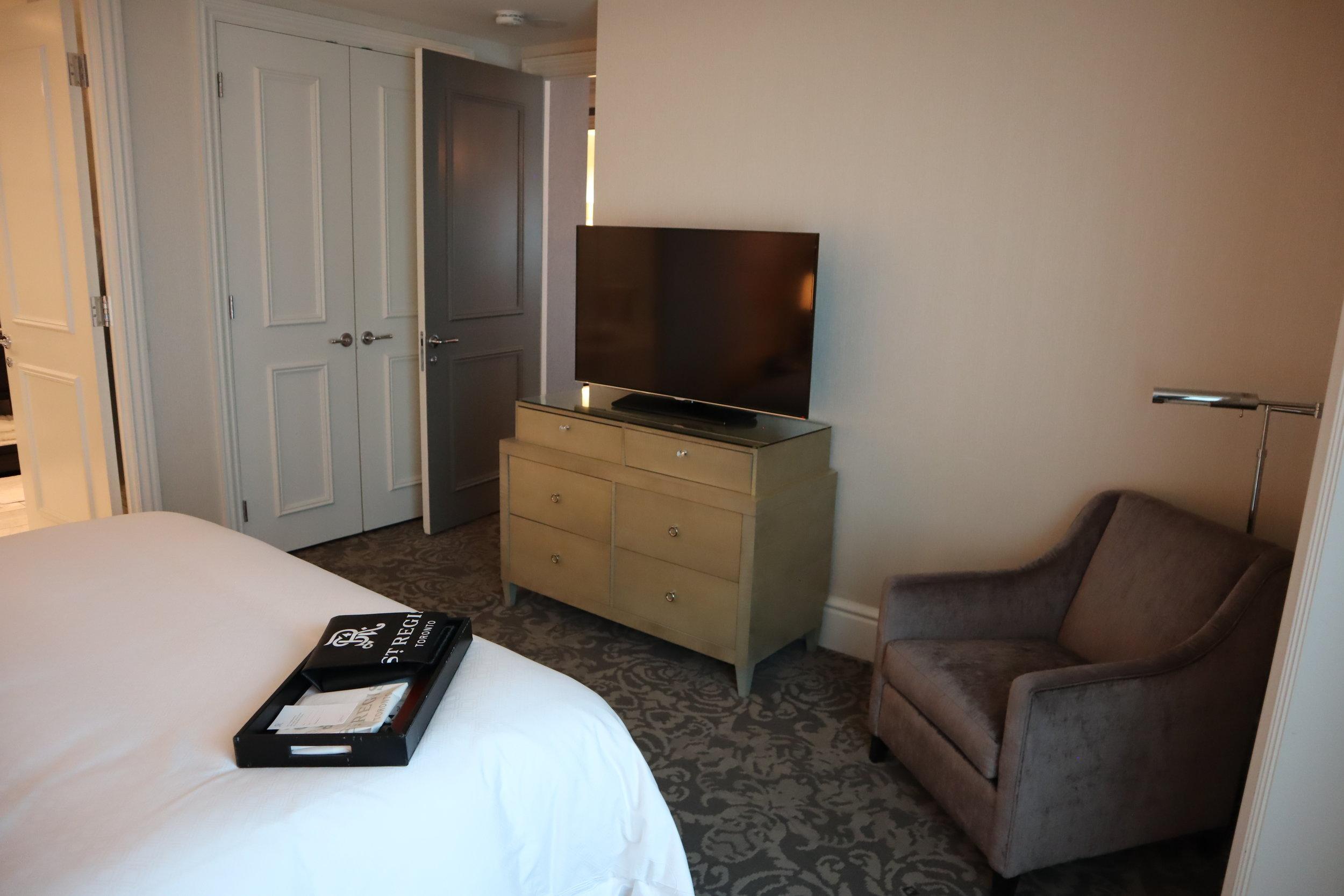 St. Regis Toronto – Two-bedroom suite master bedroom furniture