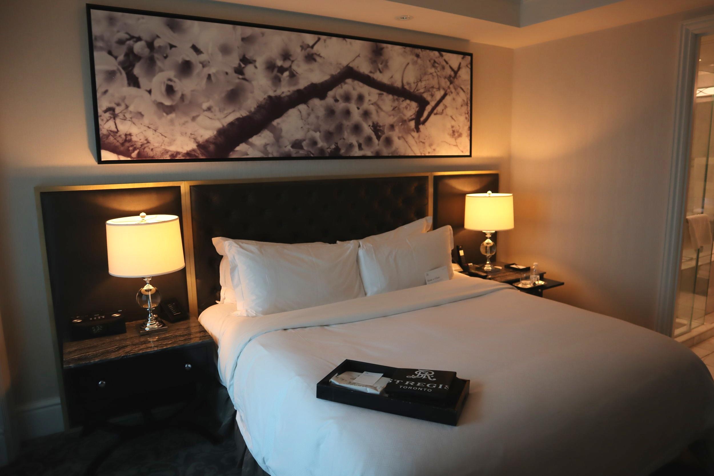 St. Regis Toronto – Two-bedroom suite master bedroom king bed
