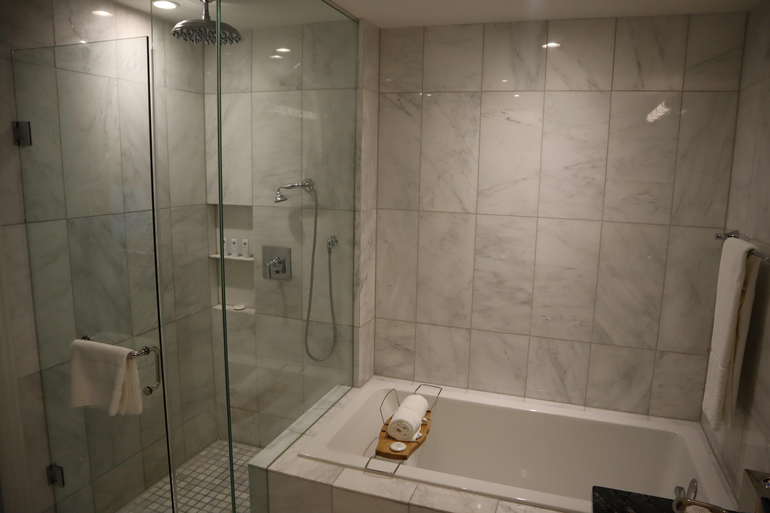 St. Regis Toronto – Two-bedroom suite master bathroom shower & tub