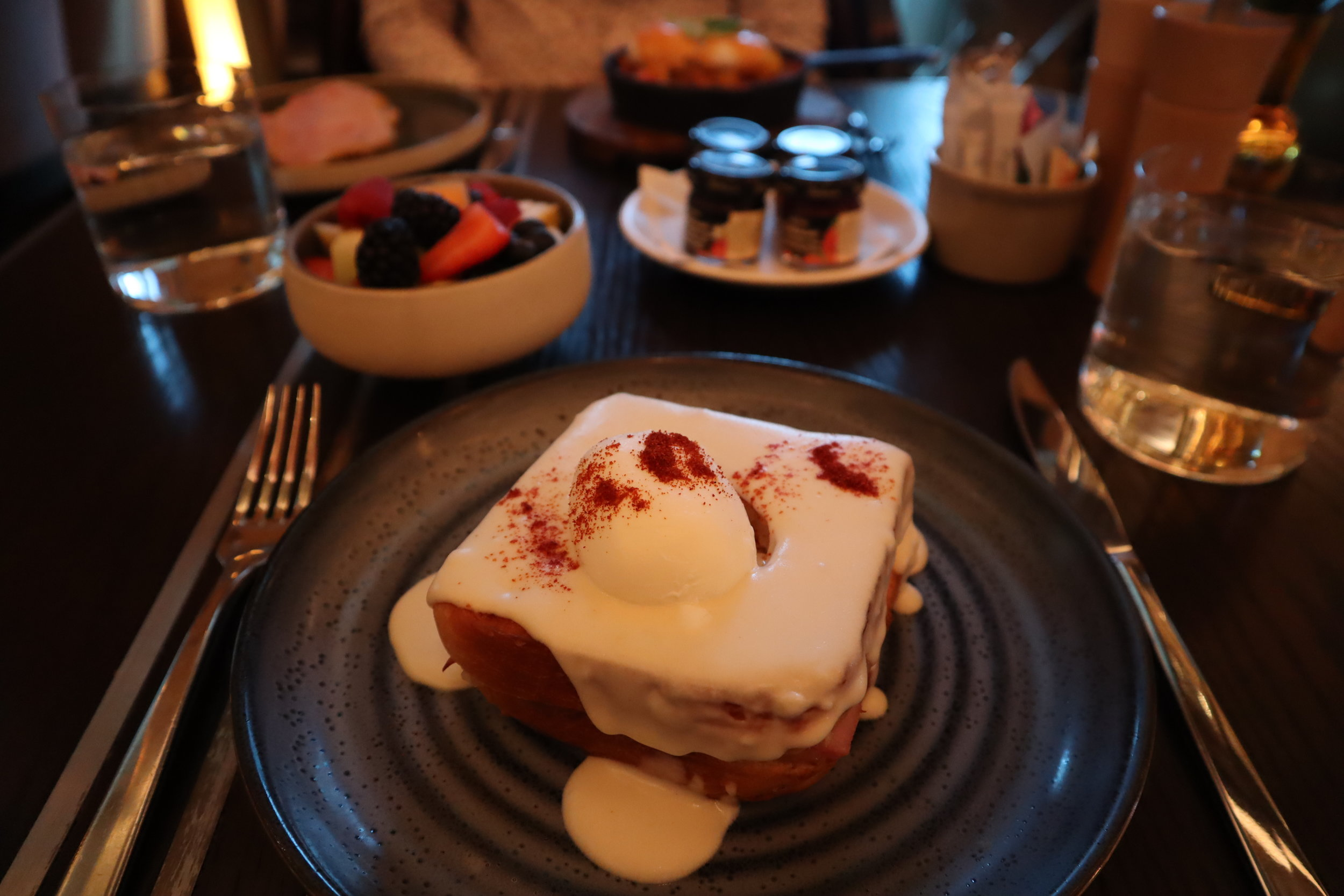 St. Regis Toronto – Croque madame with fruits and berries
