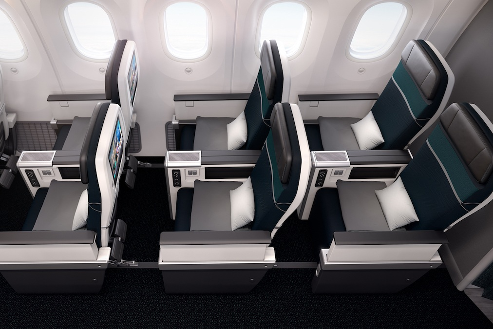 WestJet 787 premium economy class