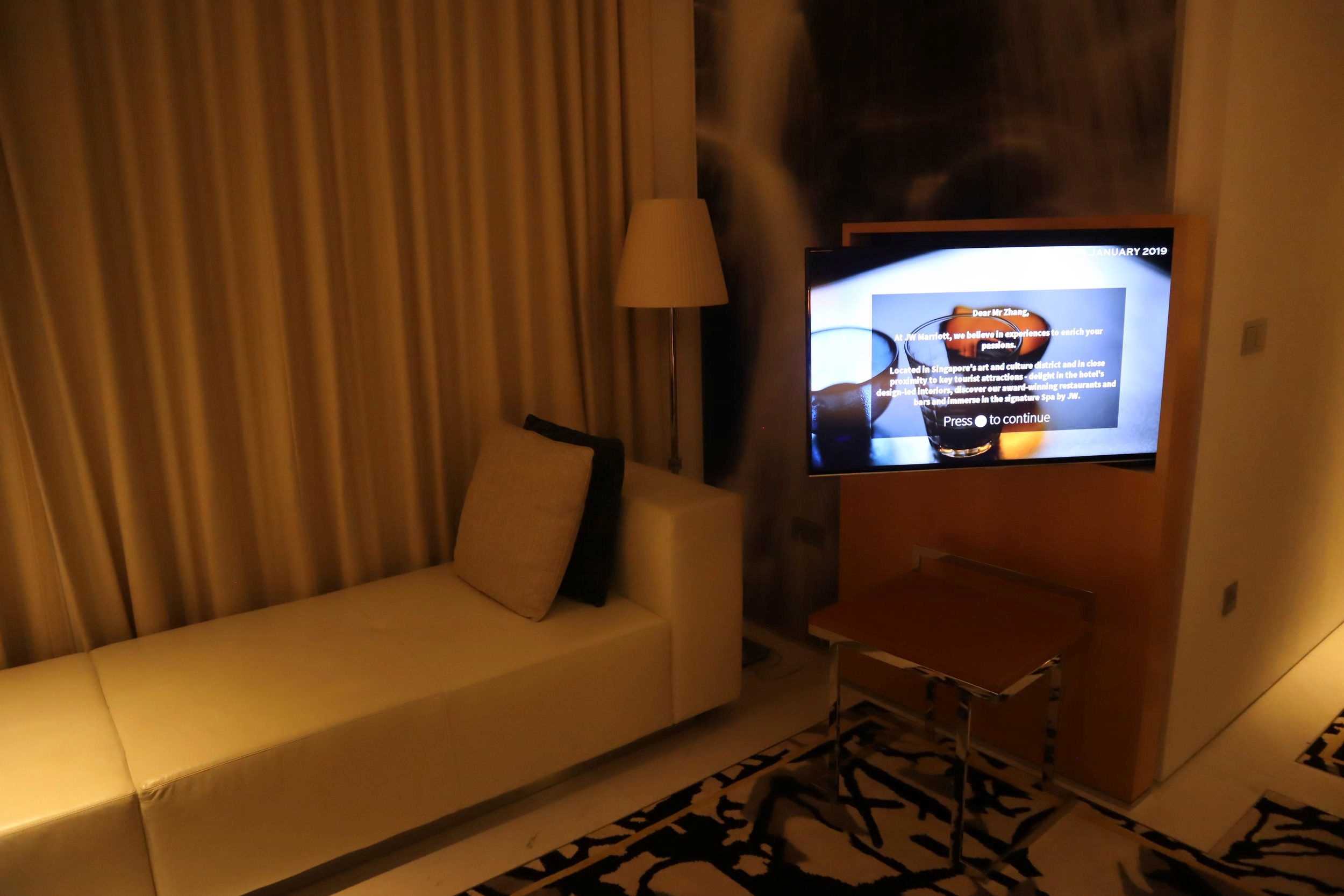 JW Marriott Singapore South Beach – Television