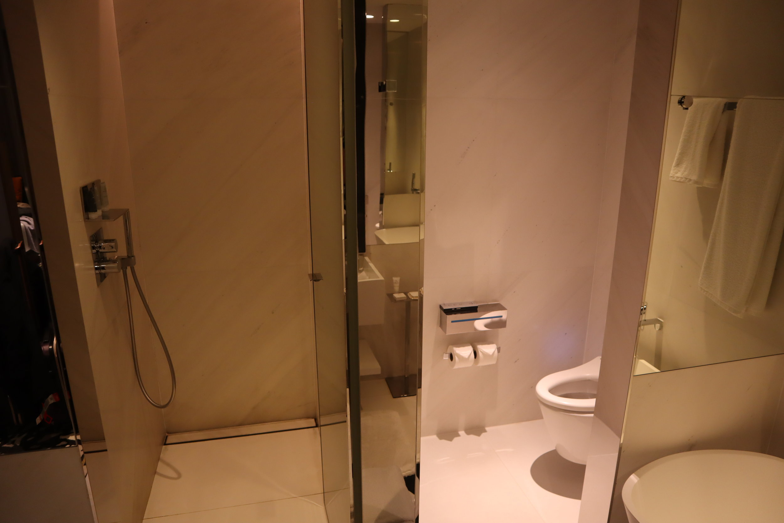 JW Marriott Singapore South Beach – Shower and toilet