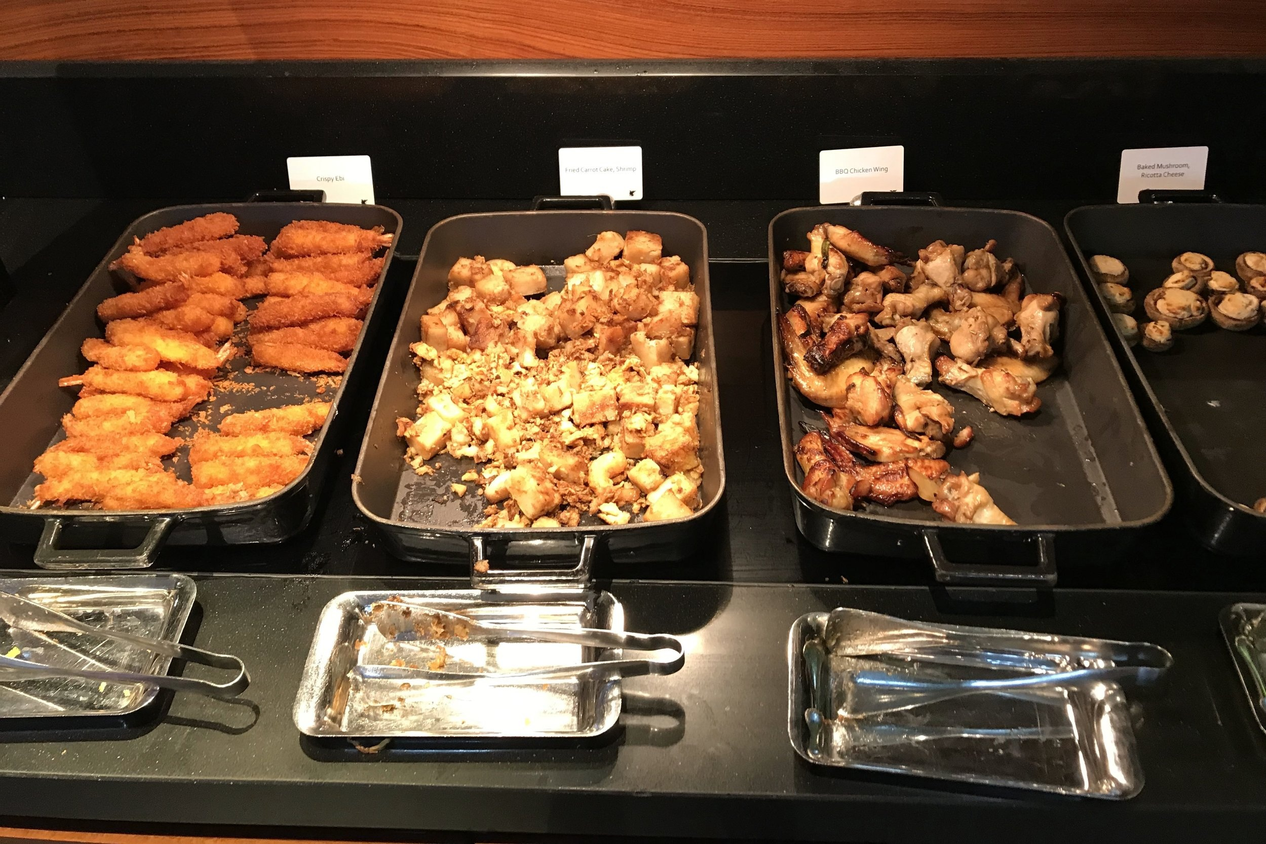 JW Marriott Singapore South Beach – Executive Lounge evening spread