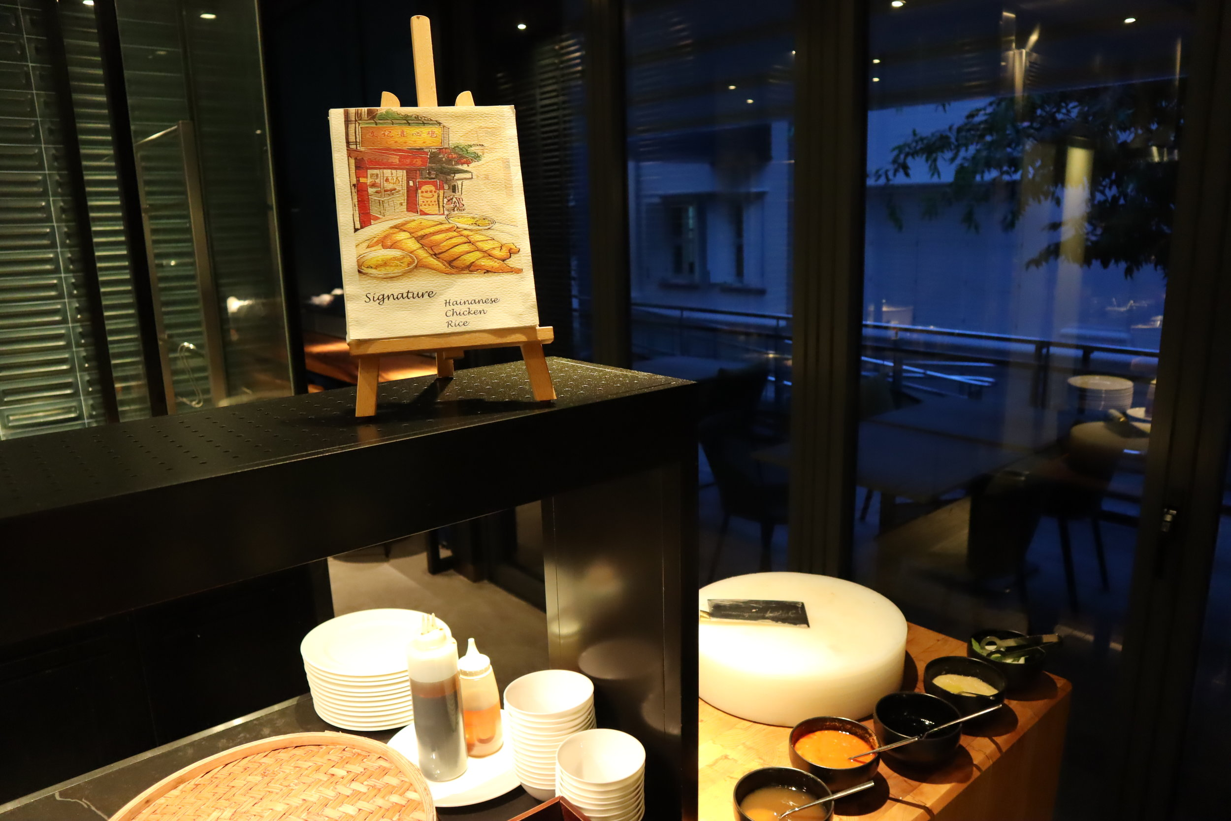JW Marriott Singapore South Beach – Beach Road Kitchen Hainan chicken rice station