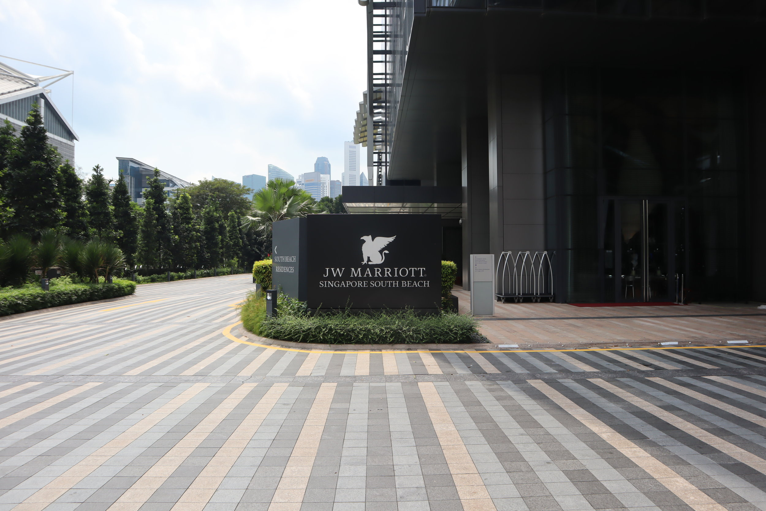 JW Marriott Singapore South Beach – Entrance sign