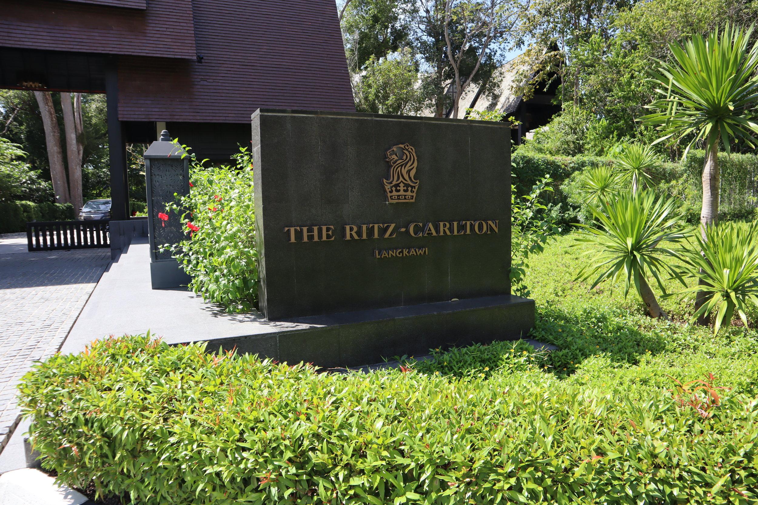 The Ritz-Carlton, Langkawi – Entrance sign