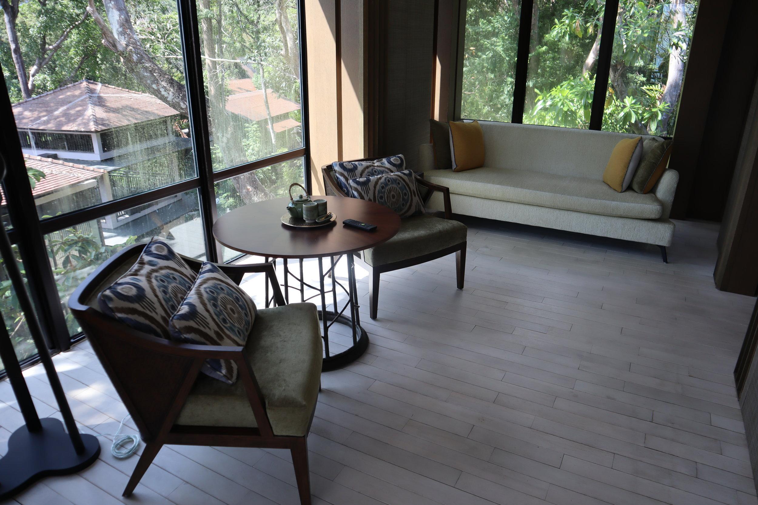 The Ritz-Carlton, Langkawi – Rainforest Junior Suite sitting area