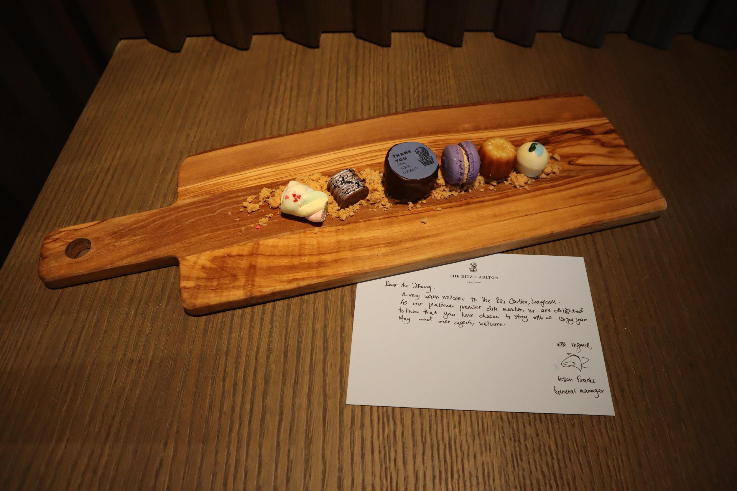 The Ritz-Carlton, Langkawi – Welcome treats